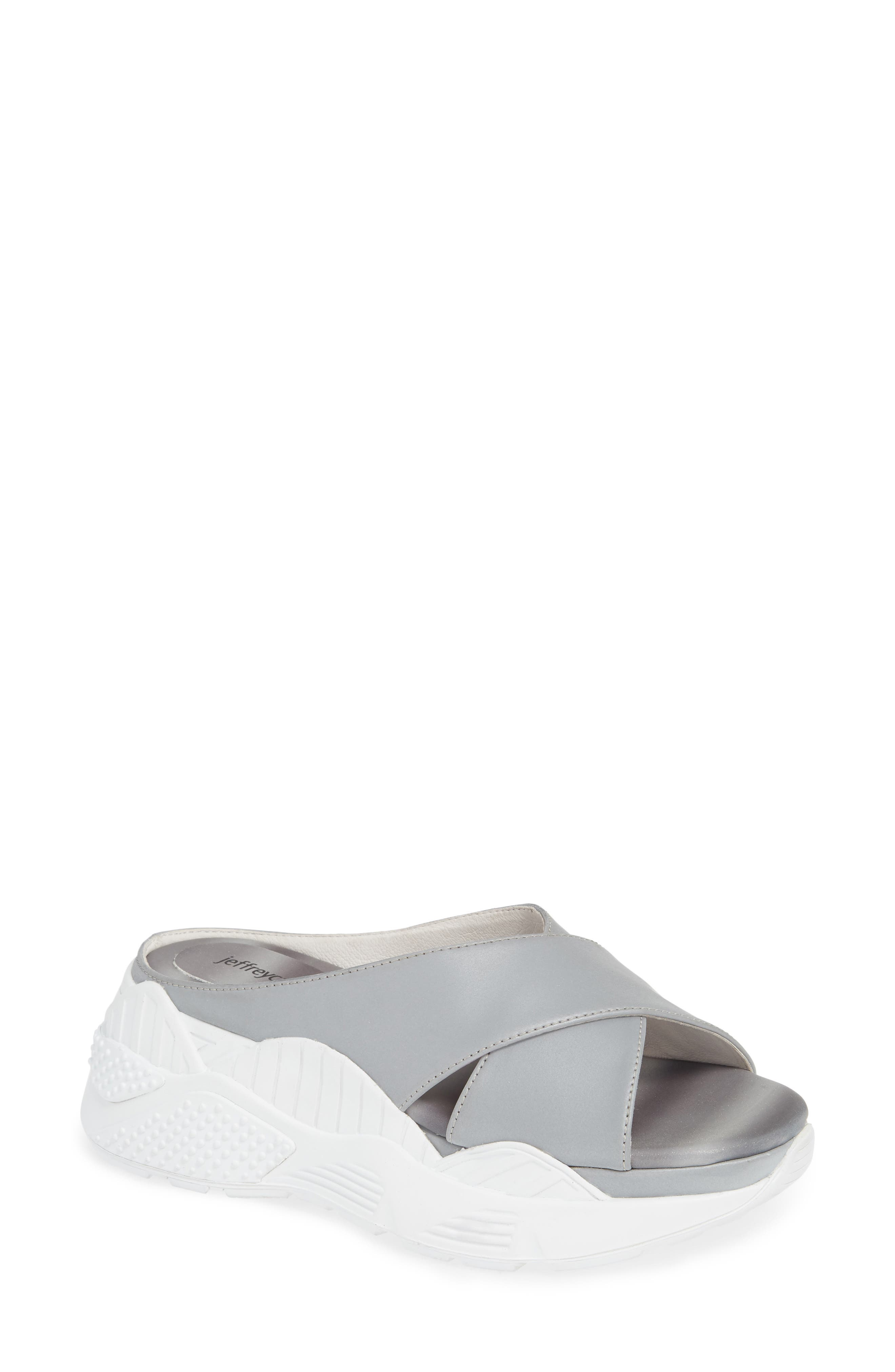 JEFFREY CAMPBELL Sector Sport Slide Sandal, Main, color, REFLECTIVE