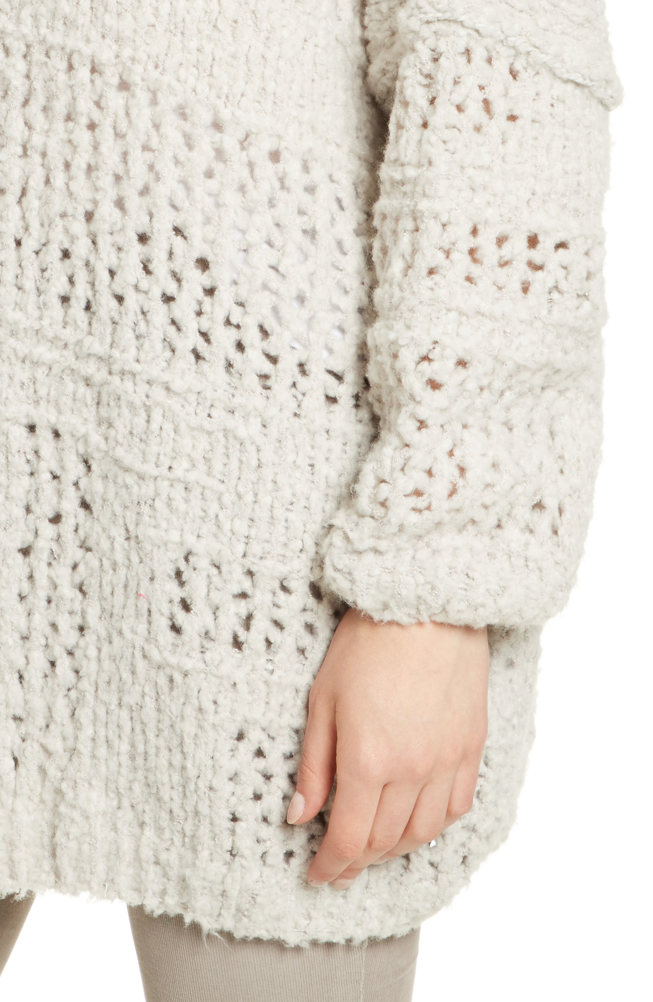 FREE PEOPLE, Saturday Morning Cardigan, Alternate thumbnail 4, color, 903