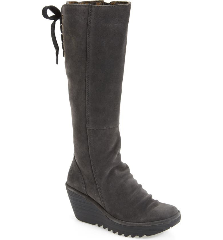 db9841e534b3 Fly London  Yust  Knee High Platform Wedge Boot (Women)