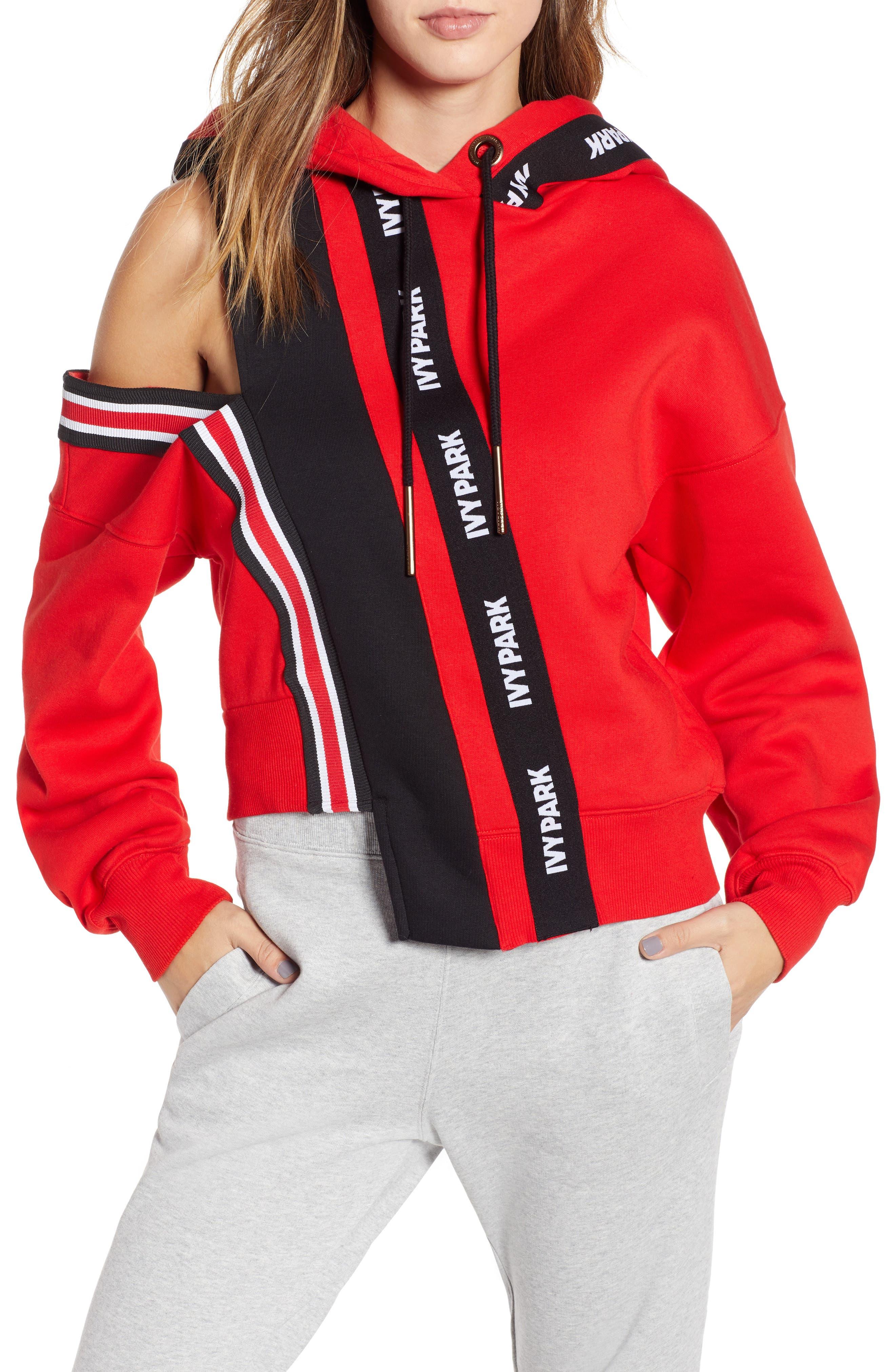 IVY PARK<SUP>®</SUP> Spliced Stripe Hoodie, Main, color, 600