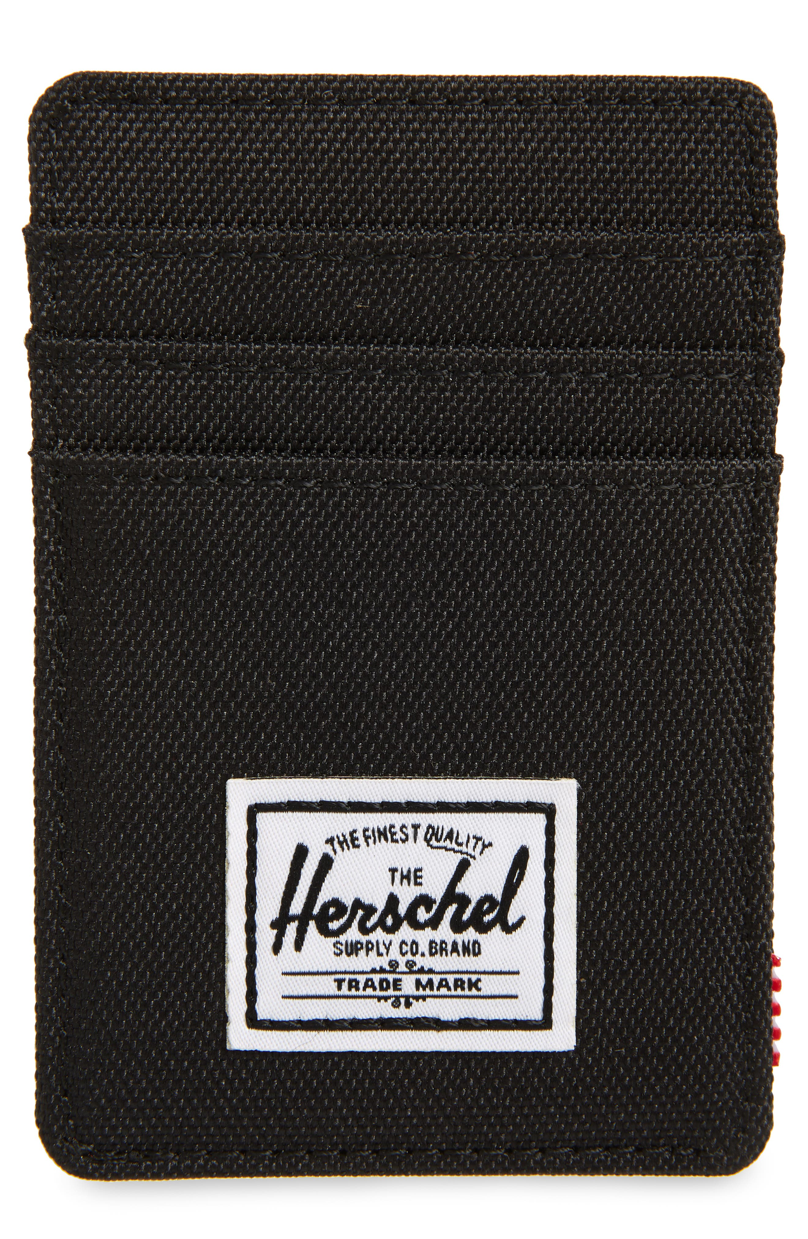 HERSCHEL SUPPLY CO., Raven Card Case, Main thumbnail 1, color, BLACK