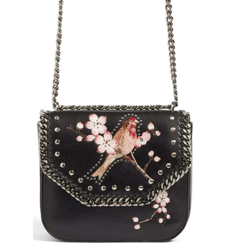 25f765eb3ca Stella McCartney Black Falabella Box Bird Shoulder Bag
