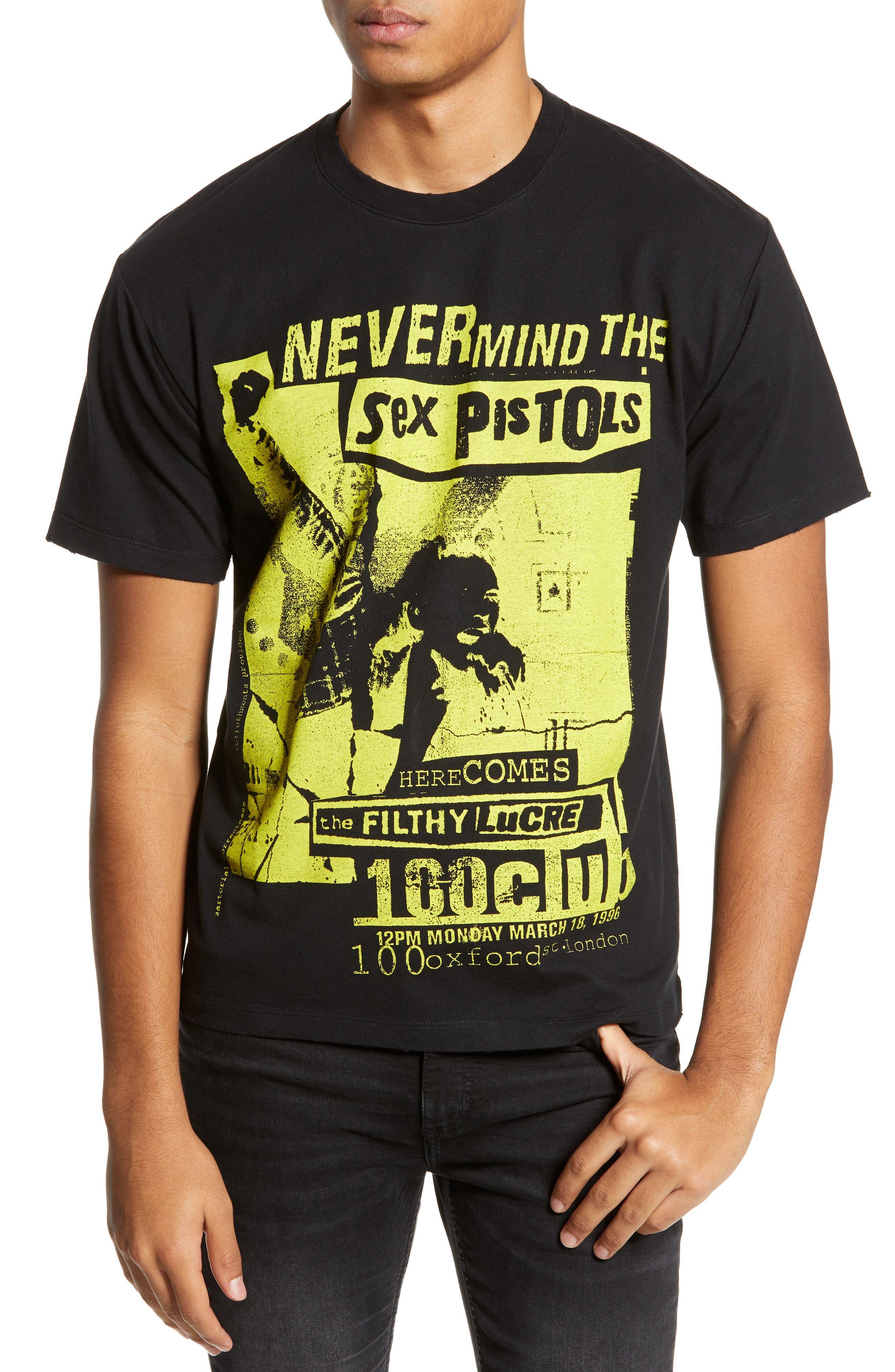 THE KOOPLES, Sex Pistols Graphic T-Shirt, Main thumbnail 1, color, 001