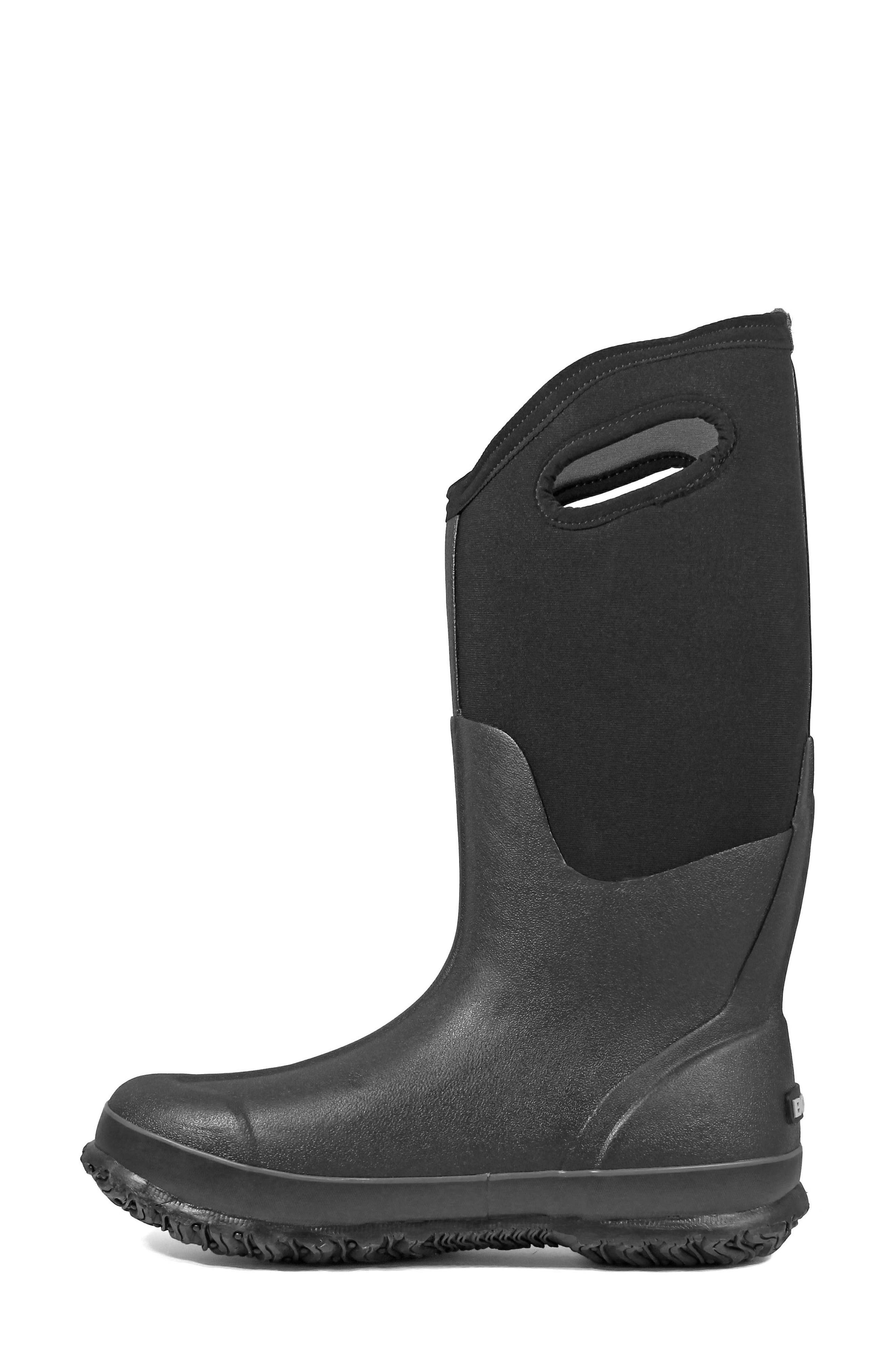 BOGS, Classic Tall Waterproof Snow Boot, Alternate thumbnail 8, color, BLACK
