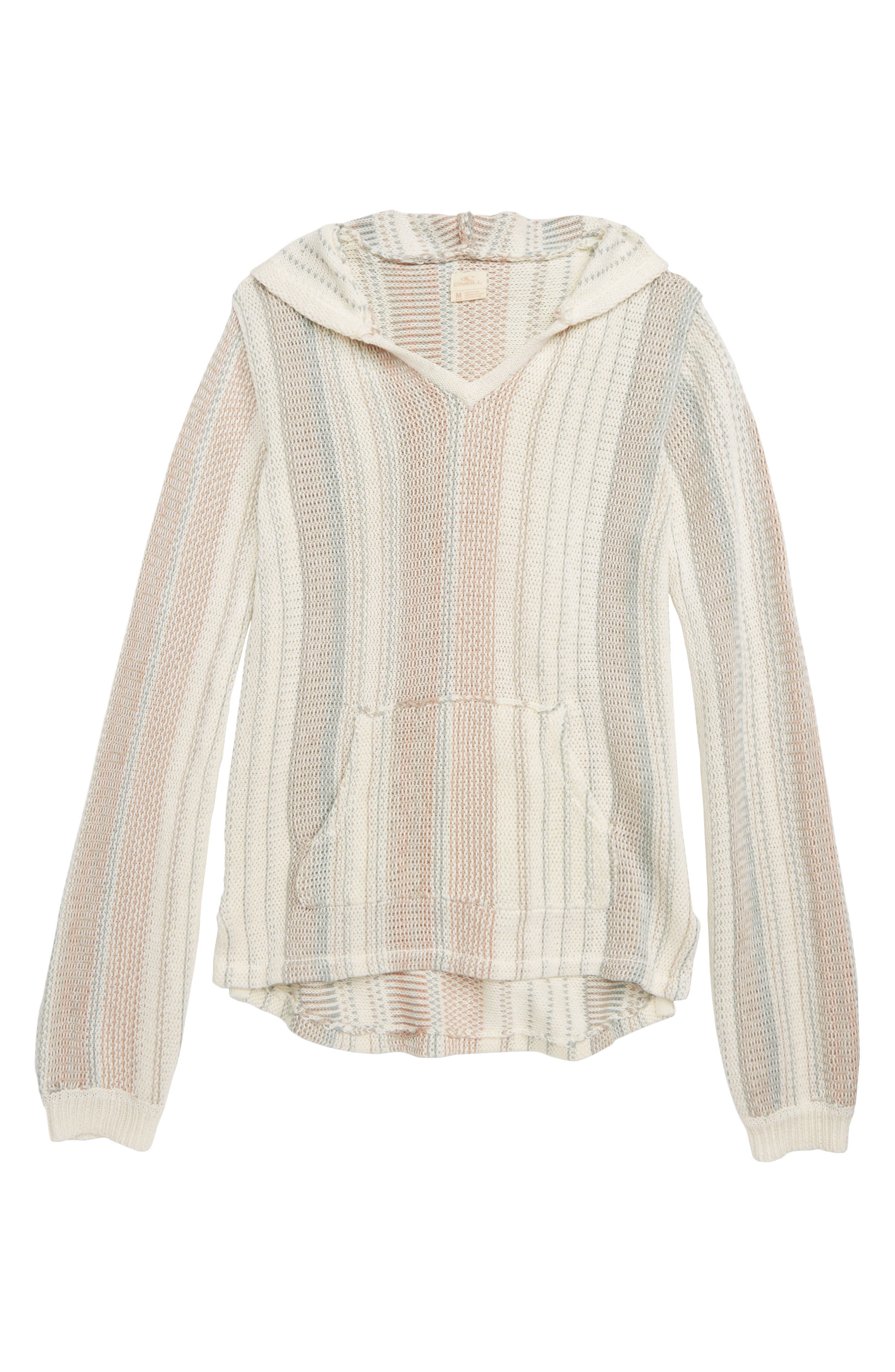 Girls ONeill Heated Hooded Sweater Size L (1214)  Ivory