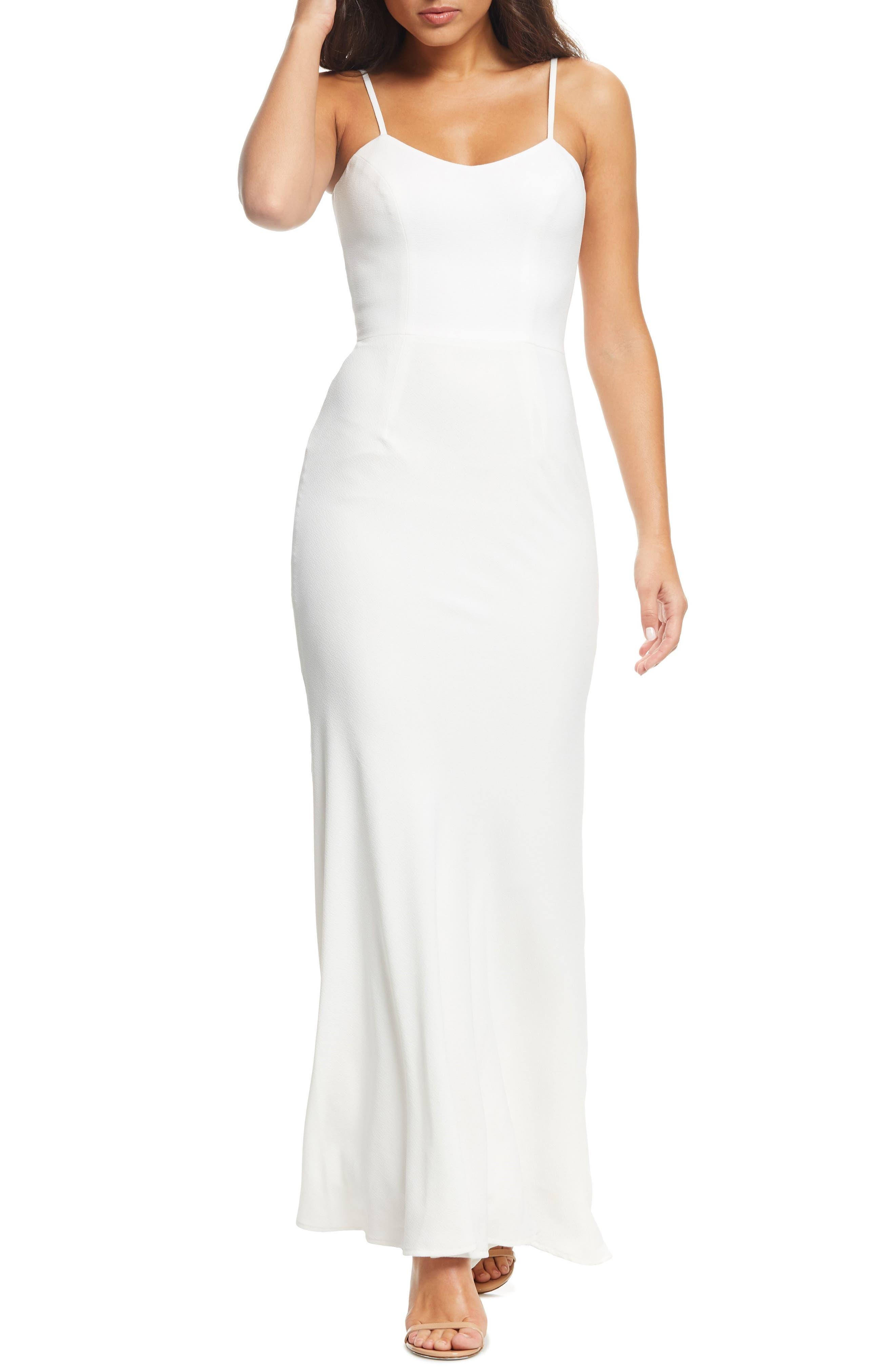 Dress The Population Jodi Crepe Evening Dress, Ivory