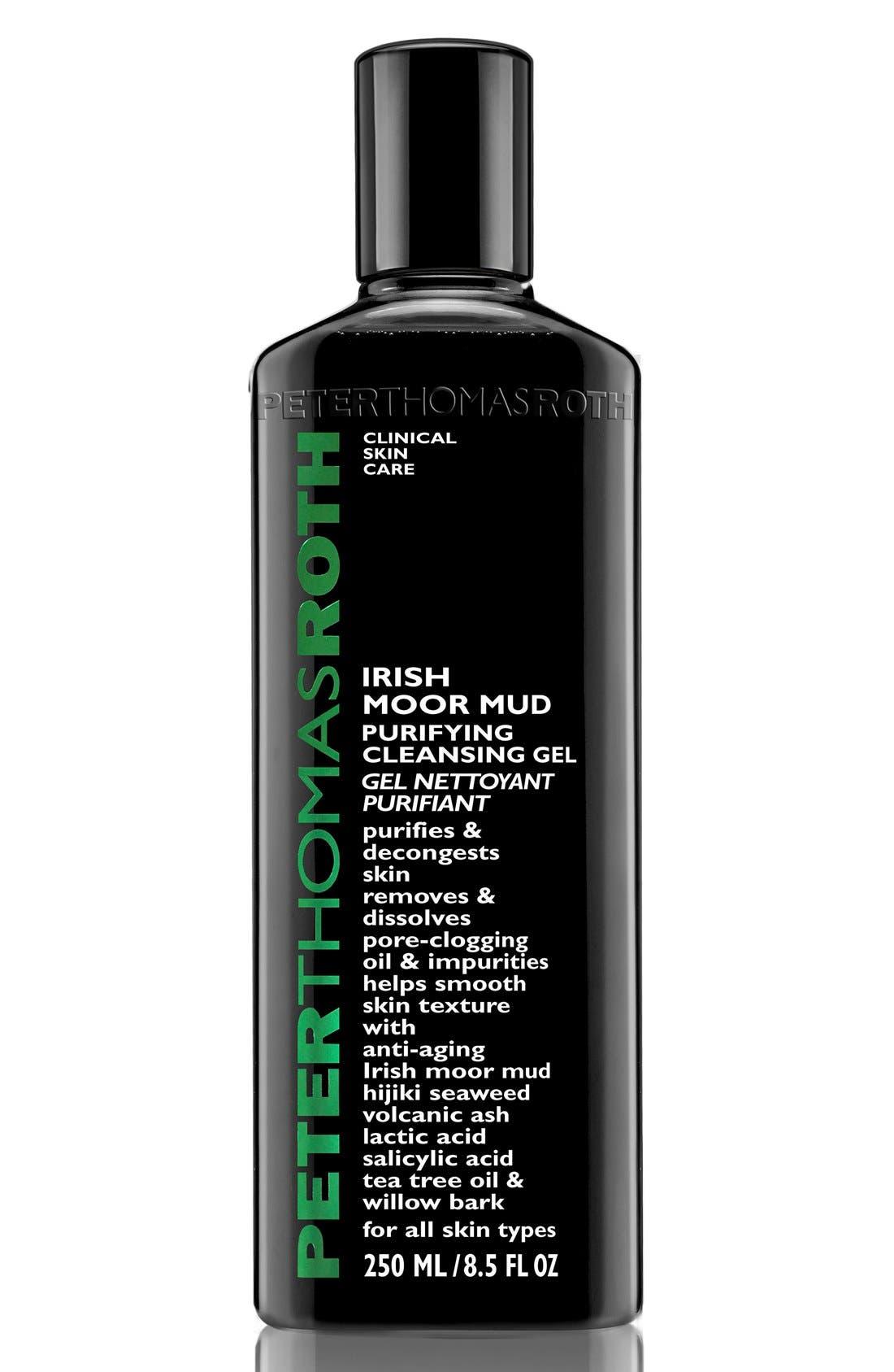 PETER THOMAS ROTH, Irish Moor Mud Purifying Cleansing Gel, Main thumbnail 1, color, 000
