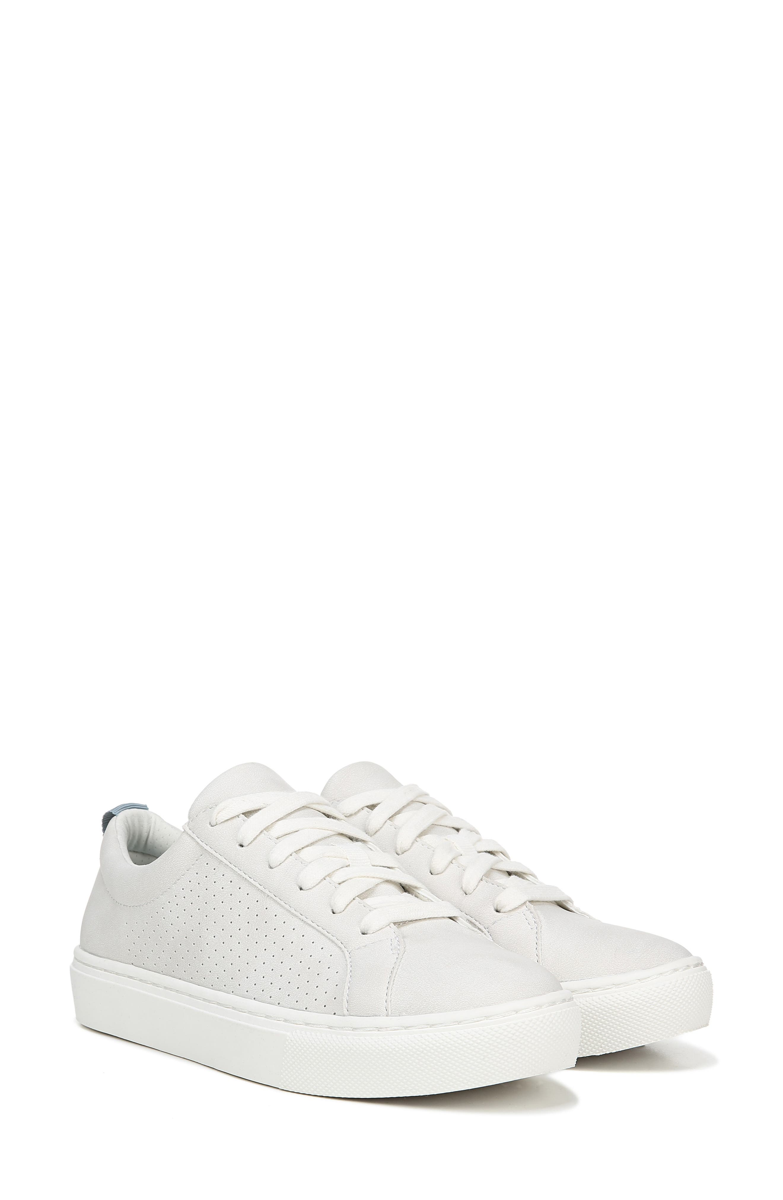 DR. SCHOLL'S, No Bad Vibes Sneaker, Alternate thumbnail 7, color, WHITE FAUX LEATHER