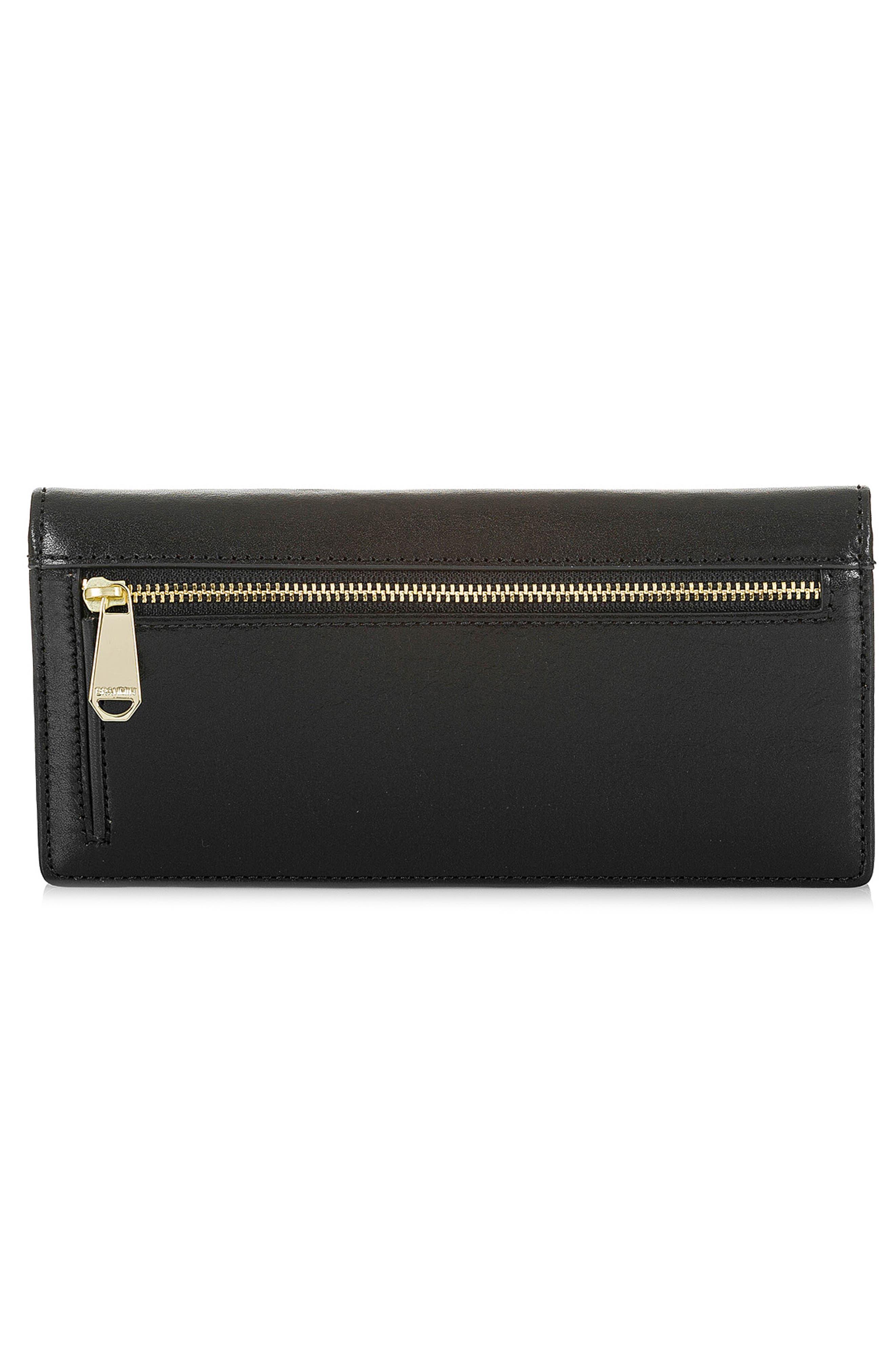 BRAHMIN, Ady Leather Wallet, Alternate thumbnail 3, color, 001