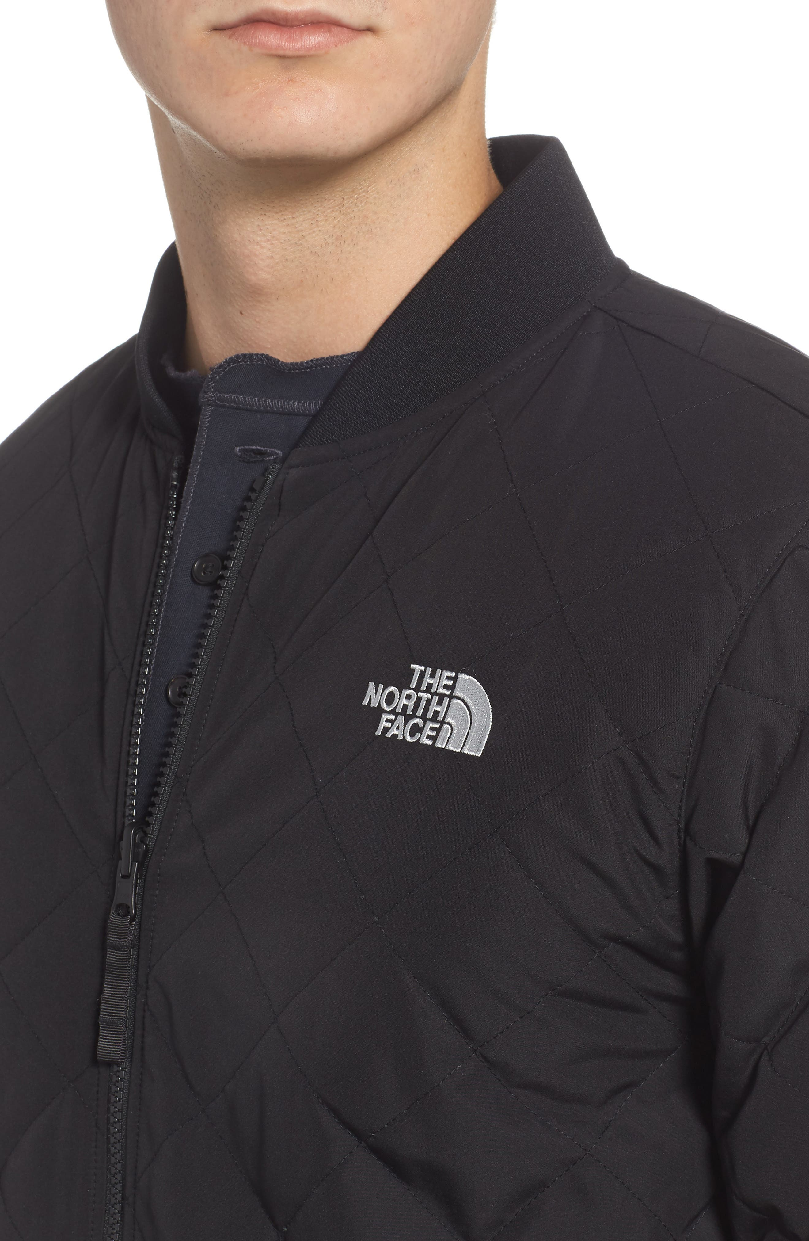 THE NORTH FACE, Jester Reversible Bomber Jacket, Alternate thumbnail 6, color, 001