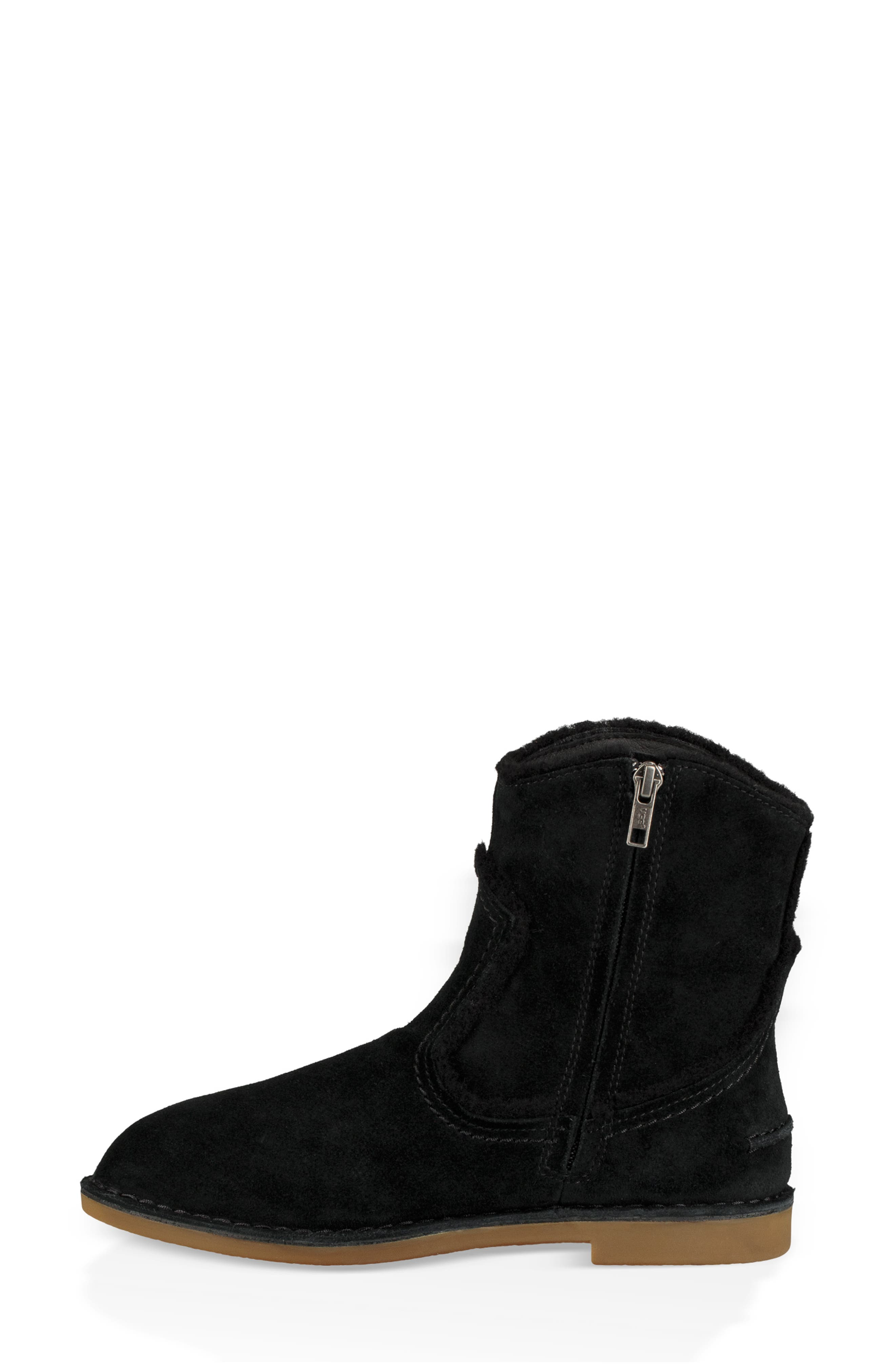 UGG<SUP>®</SUP>, Catica Boot, Alternate thumbnail 6, color, BLACK SUEDE
