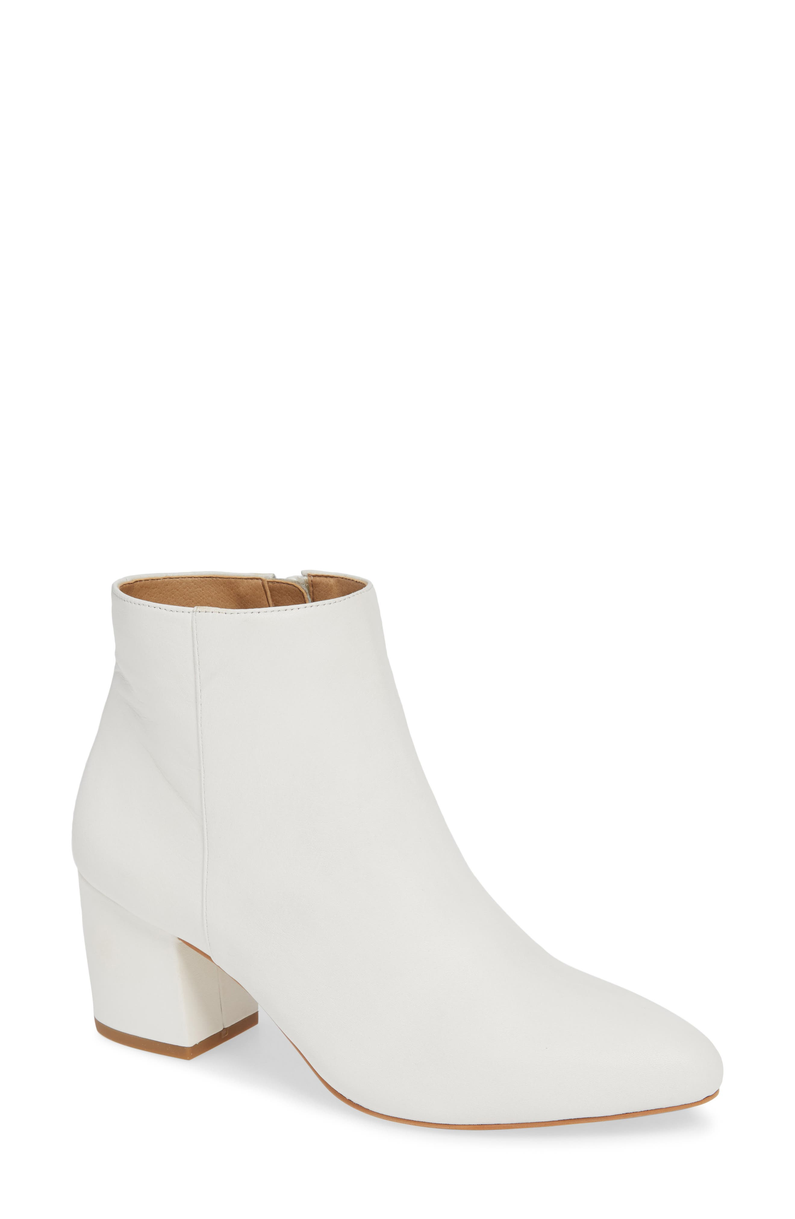 NIC+ZOE Amorie Bootie, Main, color, WHITE LEATHER