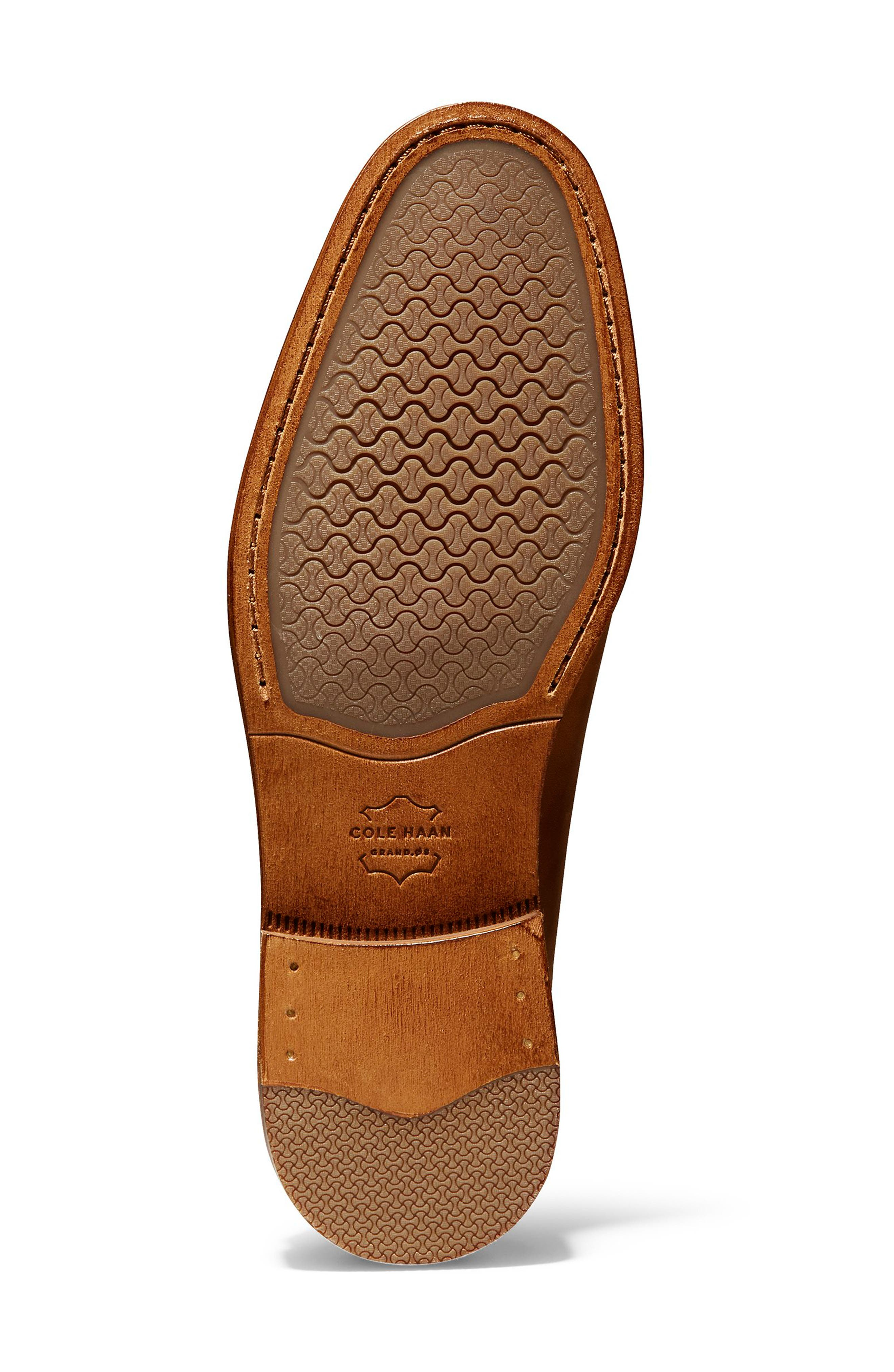 COLE HAAN, Feathercraft Grand Venetian Loafer, Alternate thumbnail 6, color, BRITISH TAN LEATHER