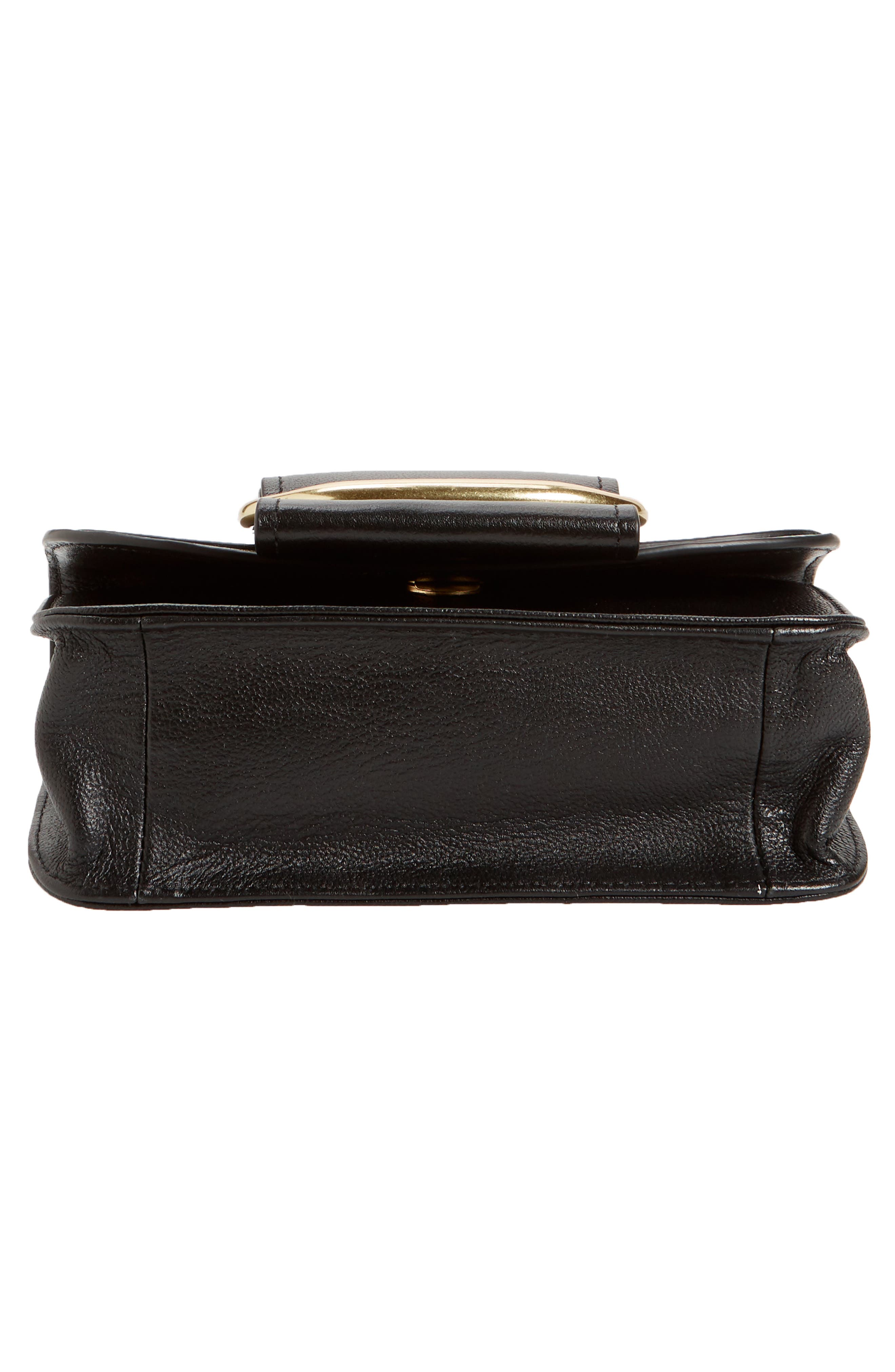 SEE BY CHLOÉ, Hopper Leather Shoulder Bag, Alternate thumbnail 7, color, 001
