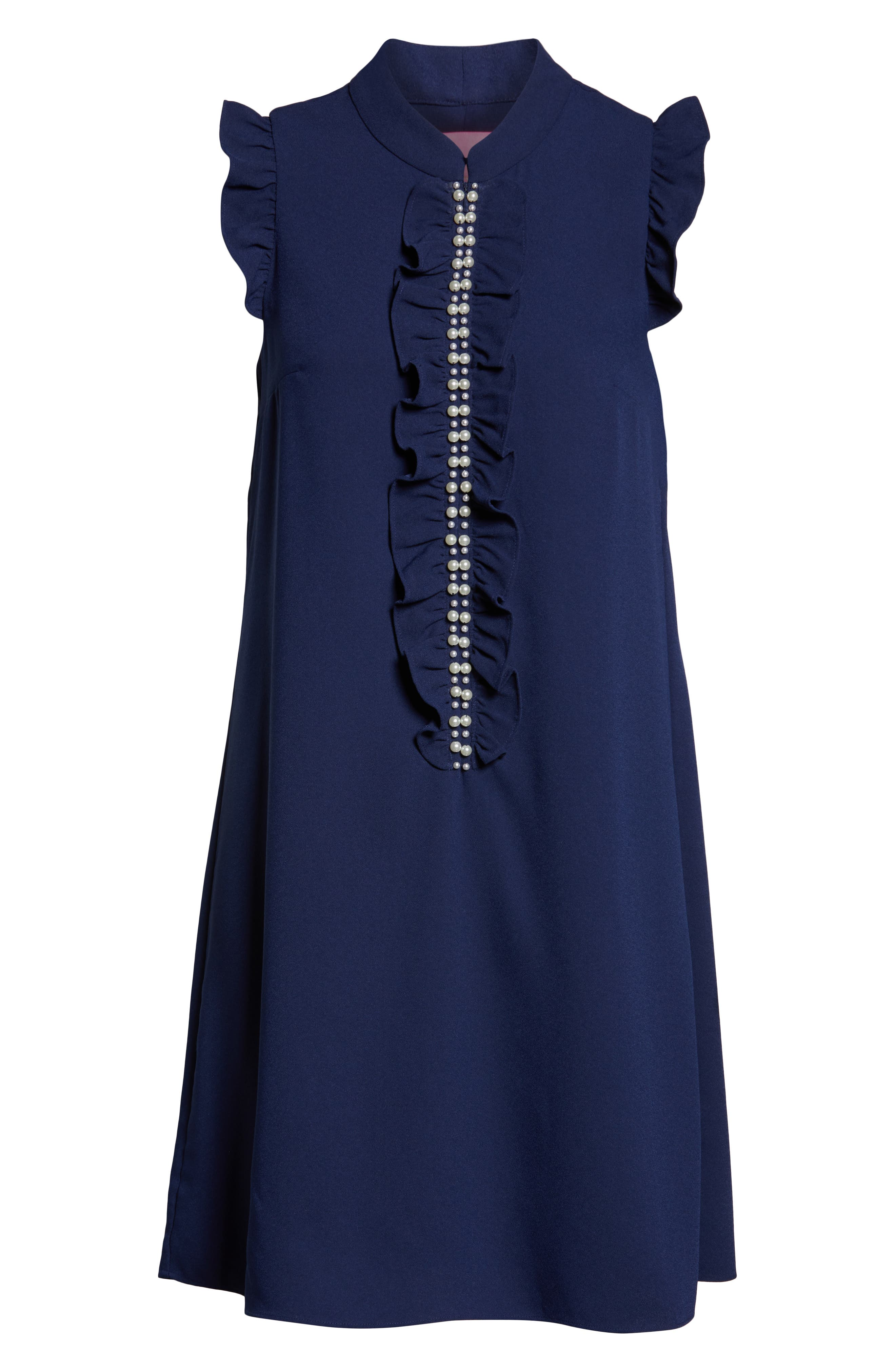 LILLY PULITZER<SUP>®</SUP>, Adalee Shift Dress, Alternate thumbnail 6, color, TRUE NAVY
