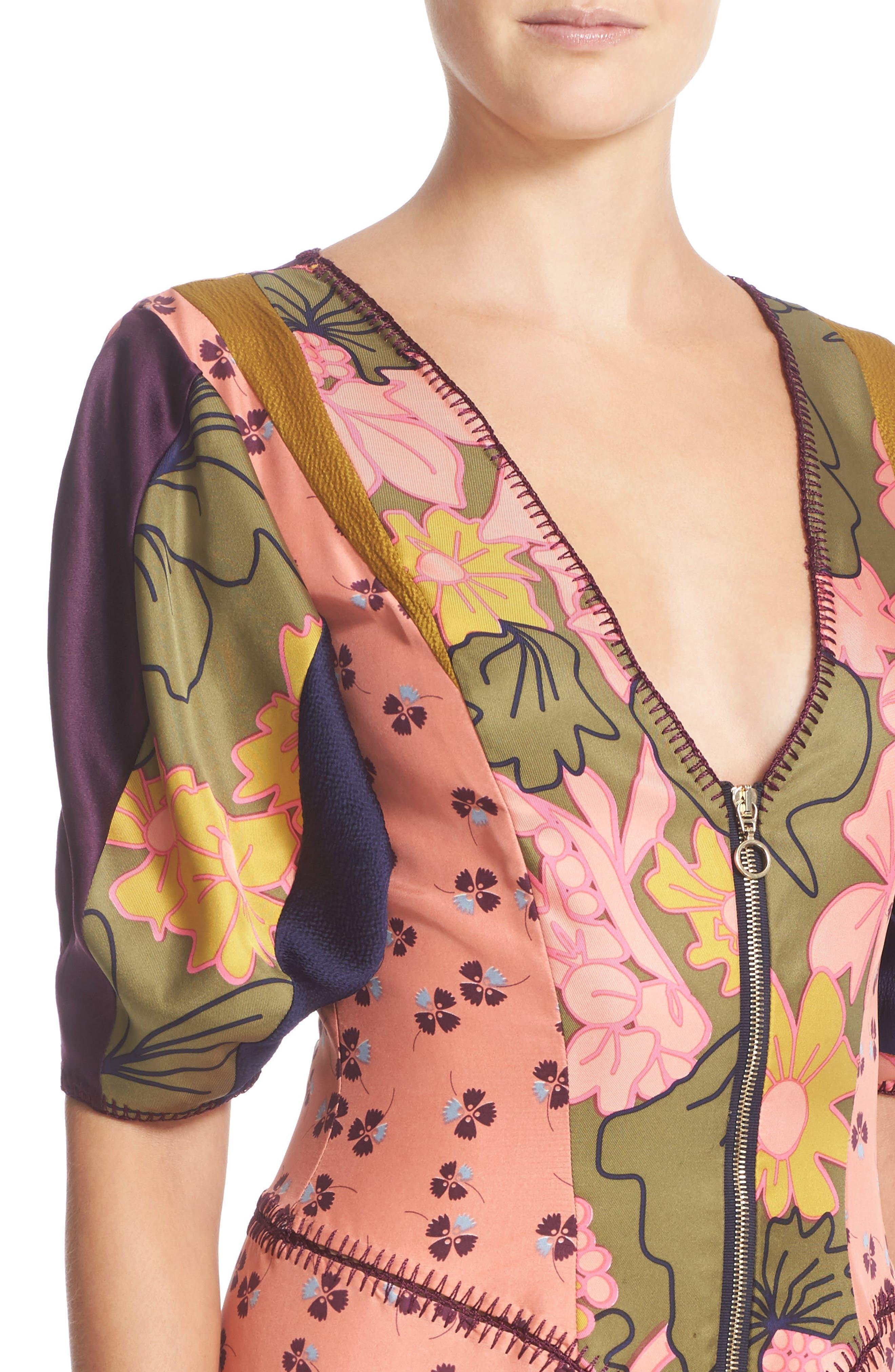 ROKSANDA, Hirani Dress, Alternate thumbnail 5, color, 695