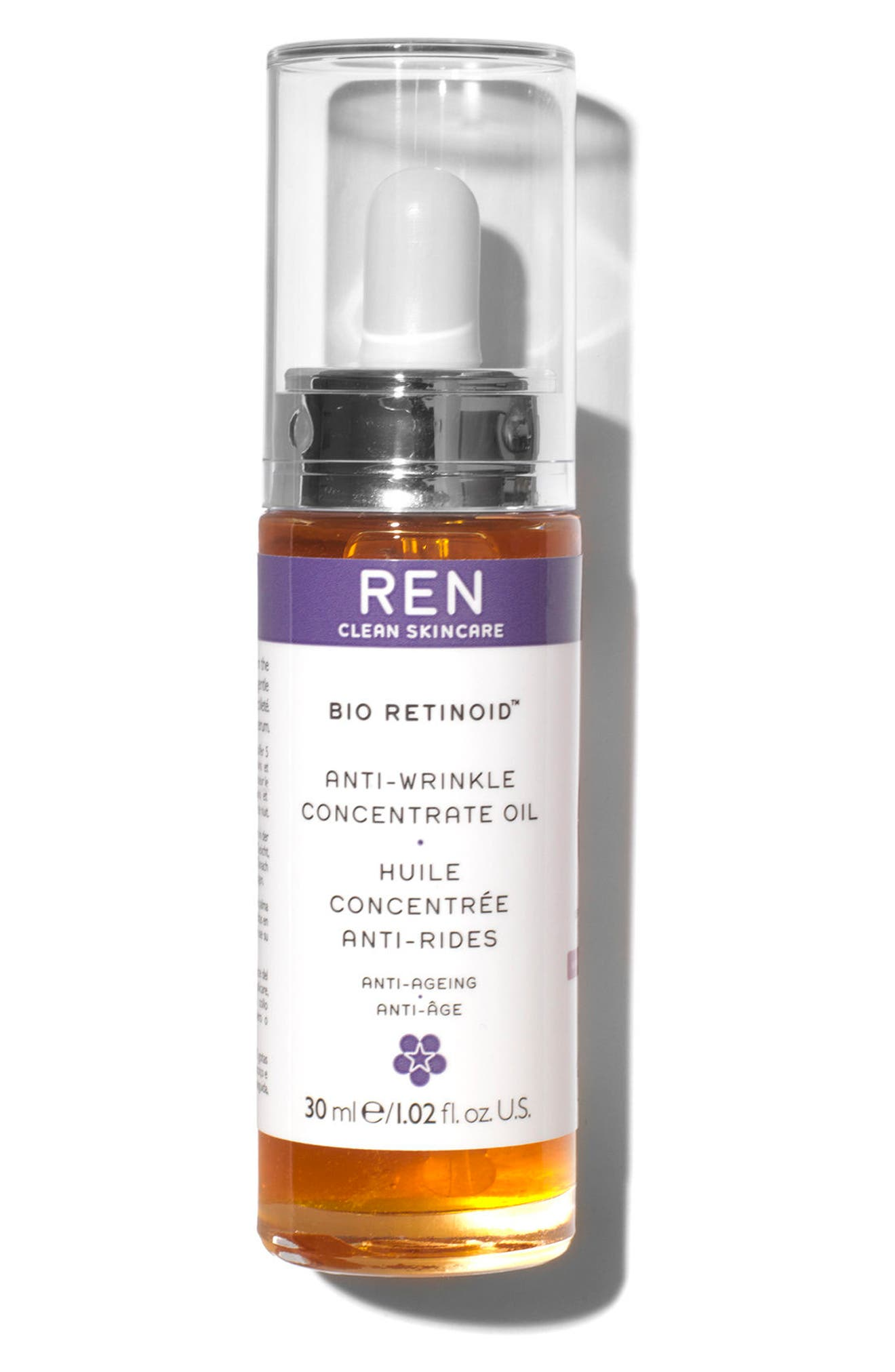 REN, SPACE.NK.apothecary REN Bio Retinoid Anti-Wrinkle Concentrate Oil, Main thumbnail 1, color, 000