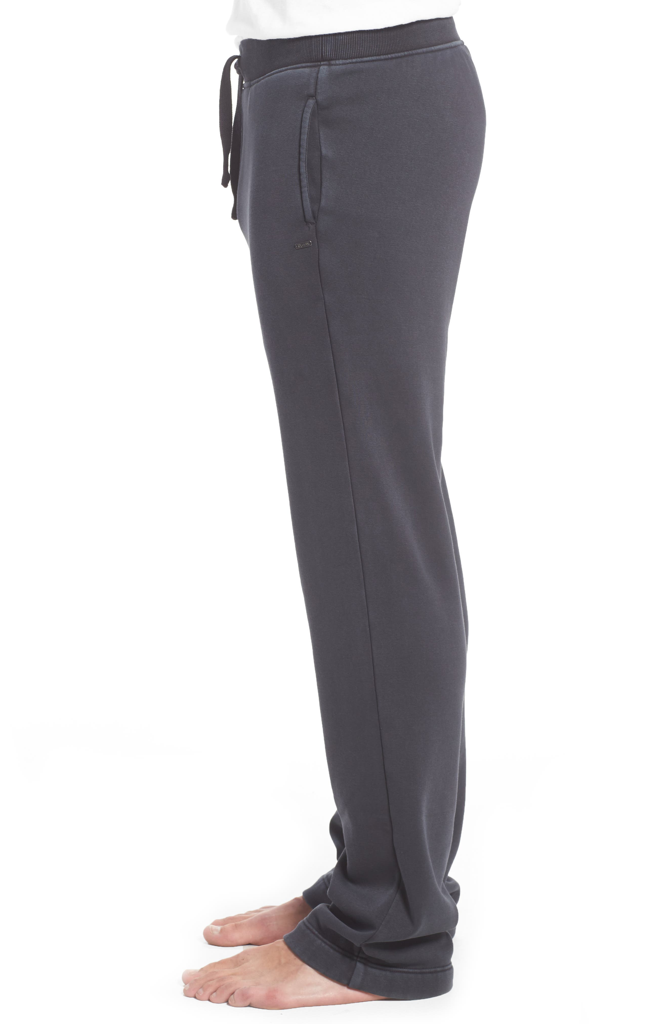 UGG<SUP>®</SUP>, Wyatt Stretch Cotton Lounge Pants, Alternate thumbnail 3, color, CHARCOAL