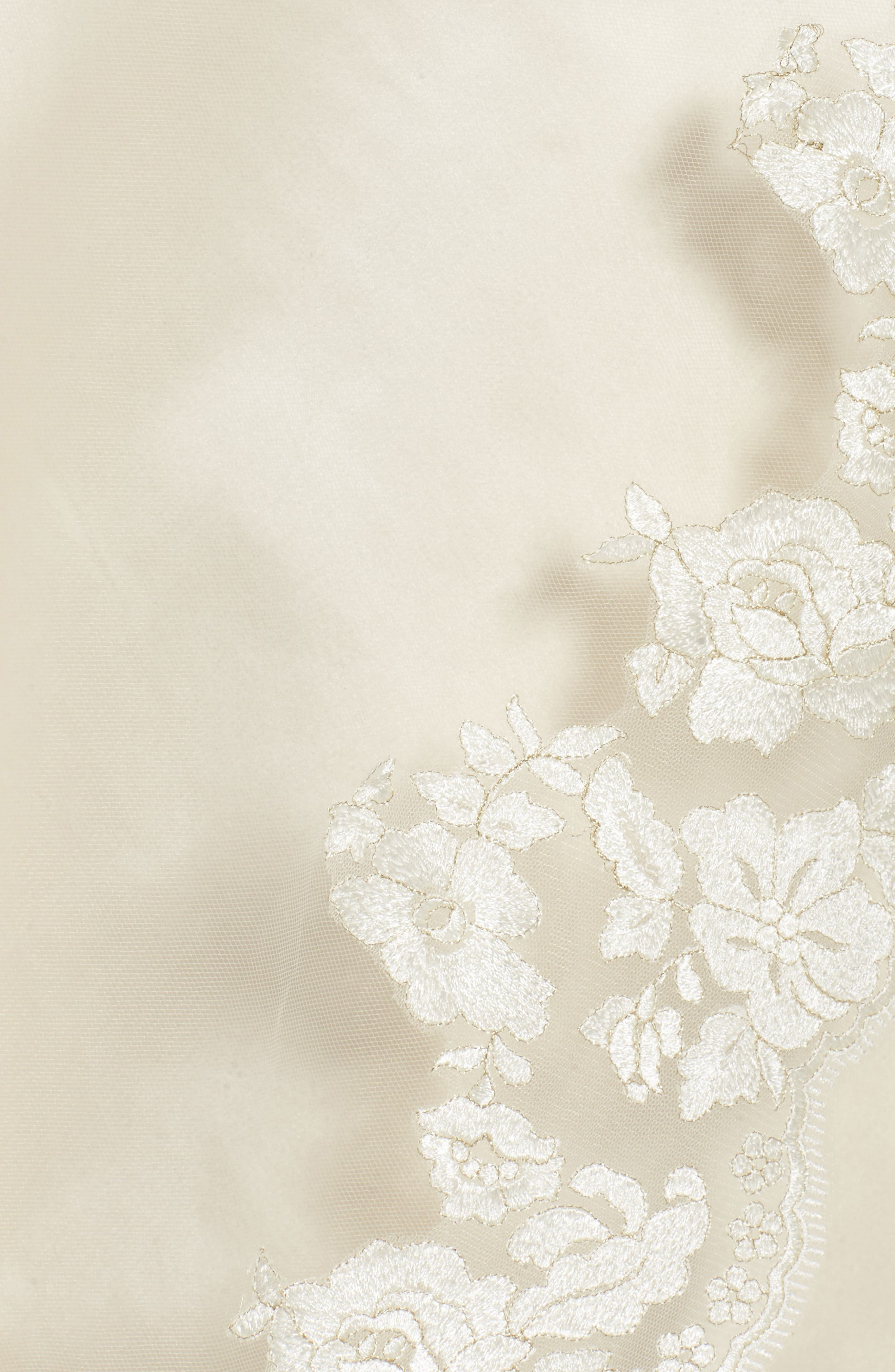 BRIDES & HAIRPINS, Florentina Embroidered Cathedral Veil, Alternate thumbnail 3, color, IVORY