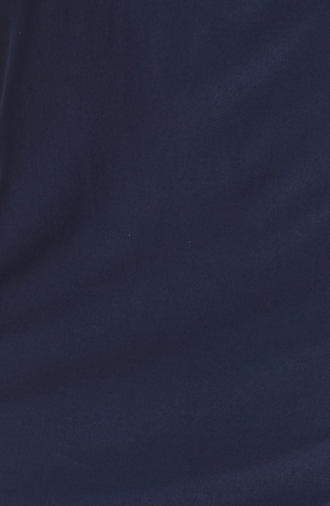 ELIZA J, Ruched Jersey Sheath Dress, Alternate thumbnail 7, color, NAVY