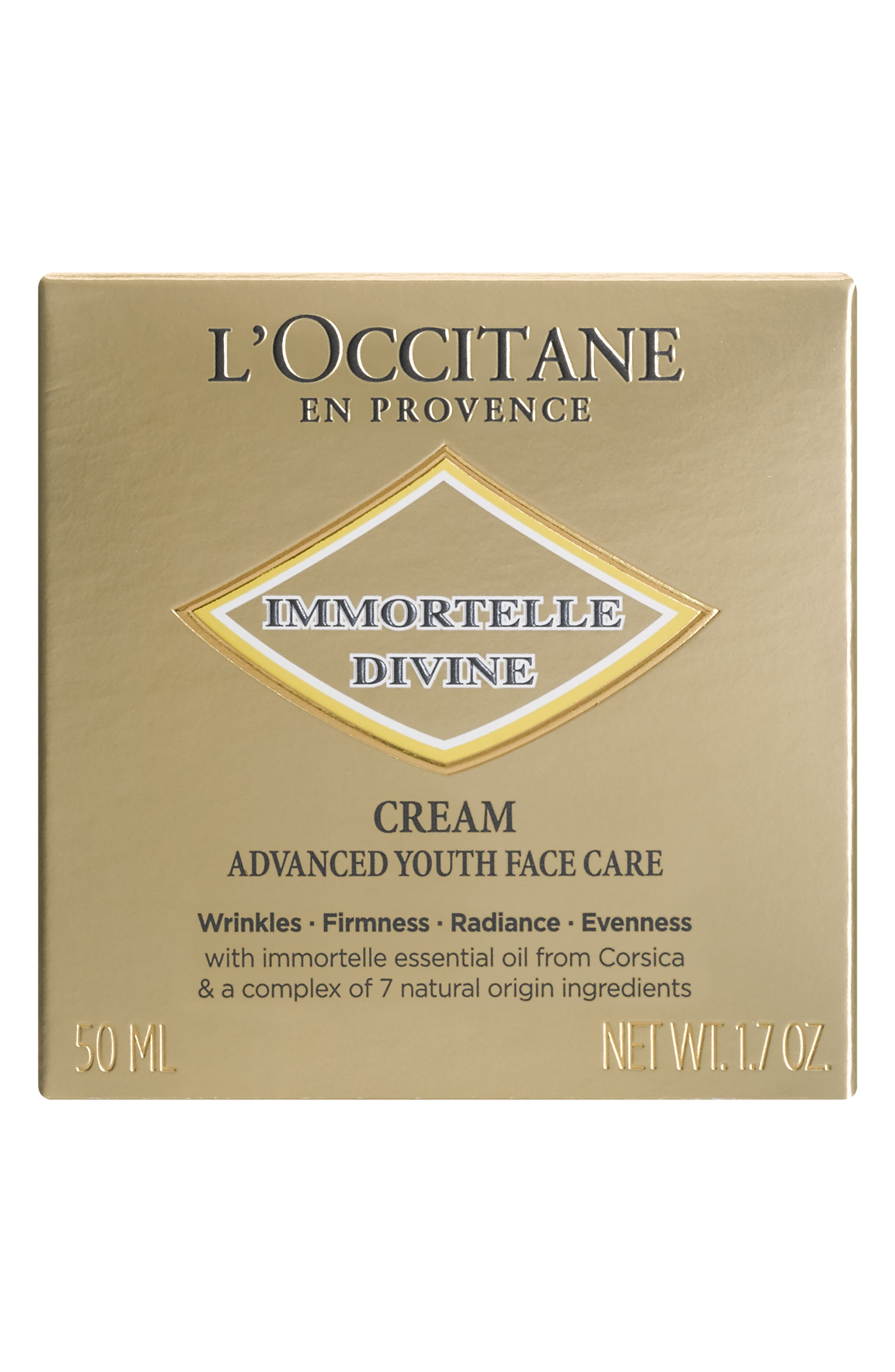 L'OCCITANE, Immortelle Divine Crème, Alternate thumbnail 3, color, NO COLOR