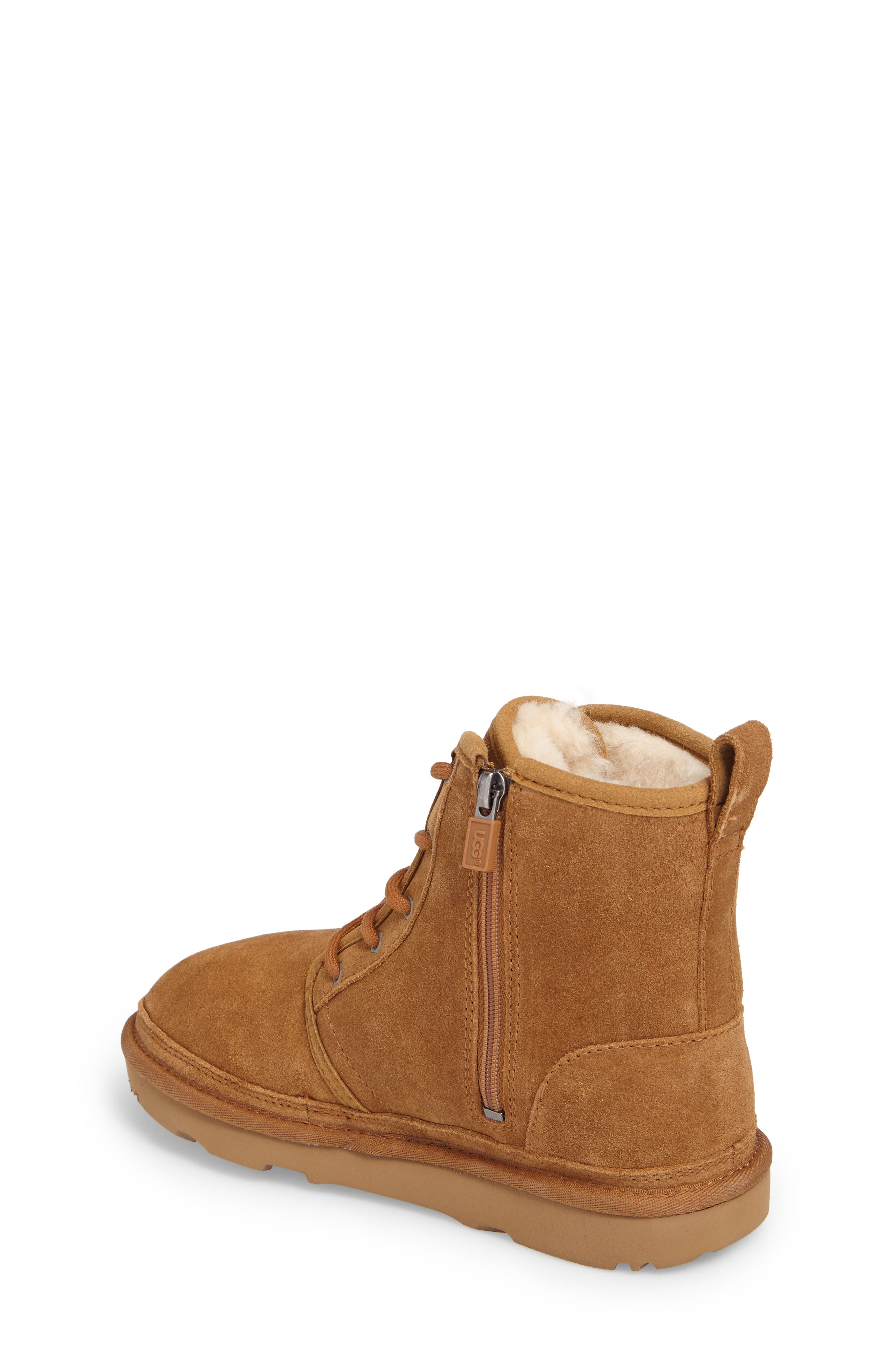UGG<SUP>®</SUP>, Harkley Lace-Up Boot, Alternate thumbnail 2, color, CHESTNUT