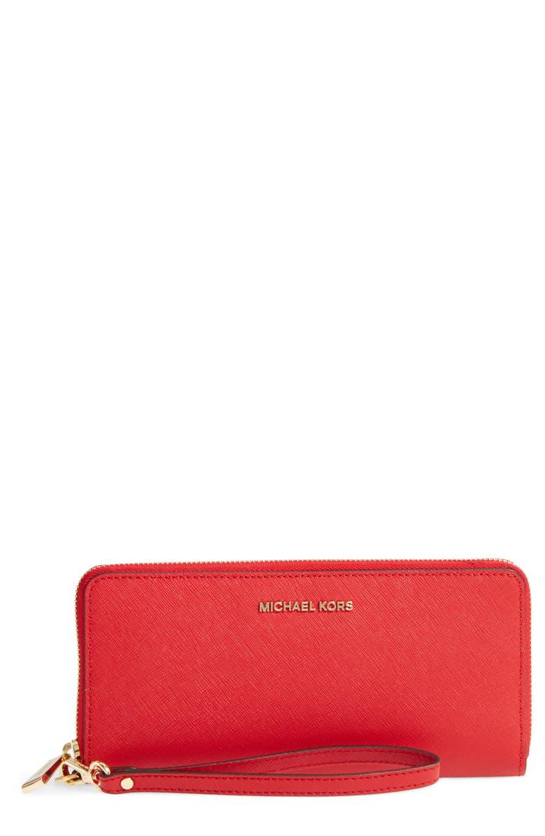 1ff6211248b4 MICHAEL Michael Kors  Jet Set  Leather Travel Wallet