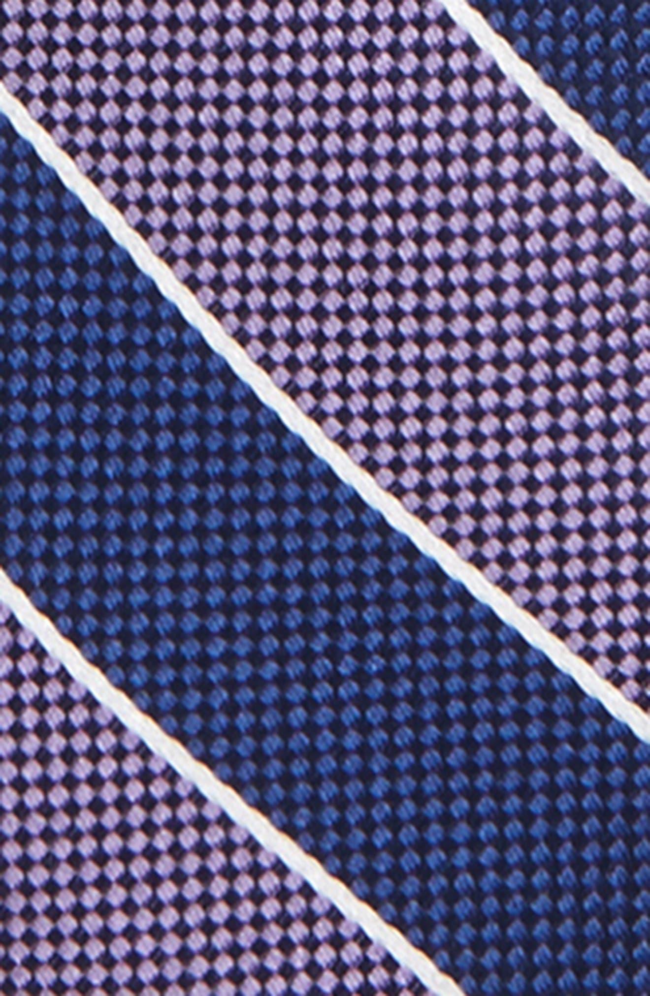 NORDSTROM, Harrison Stripe Silk Zipper Tie, Alternate thumbnail 2, color, 500