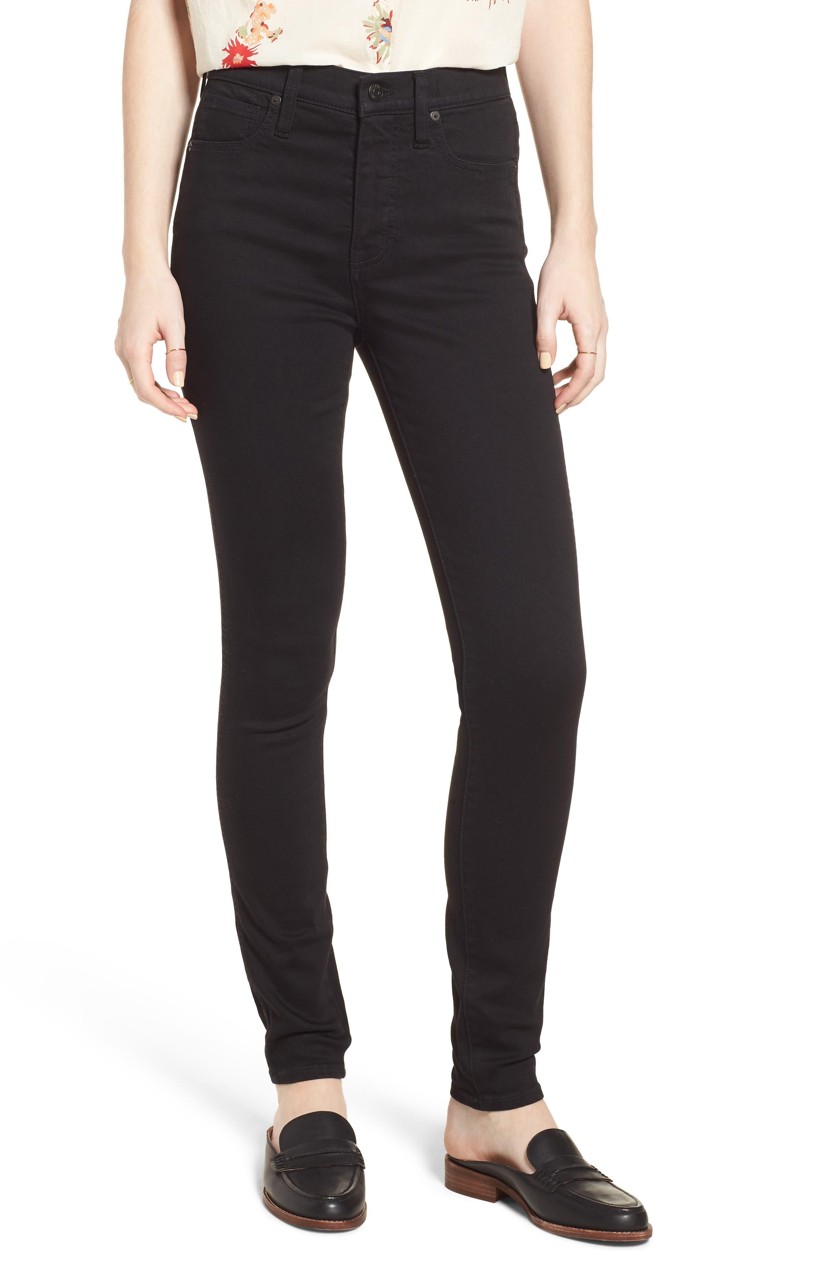 MADEWELL, 10-Inch High Waist Skinny Jeans, Main thumbnail 1, color, 001