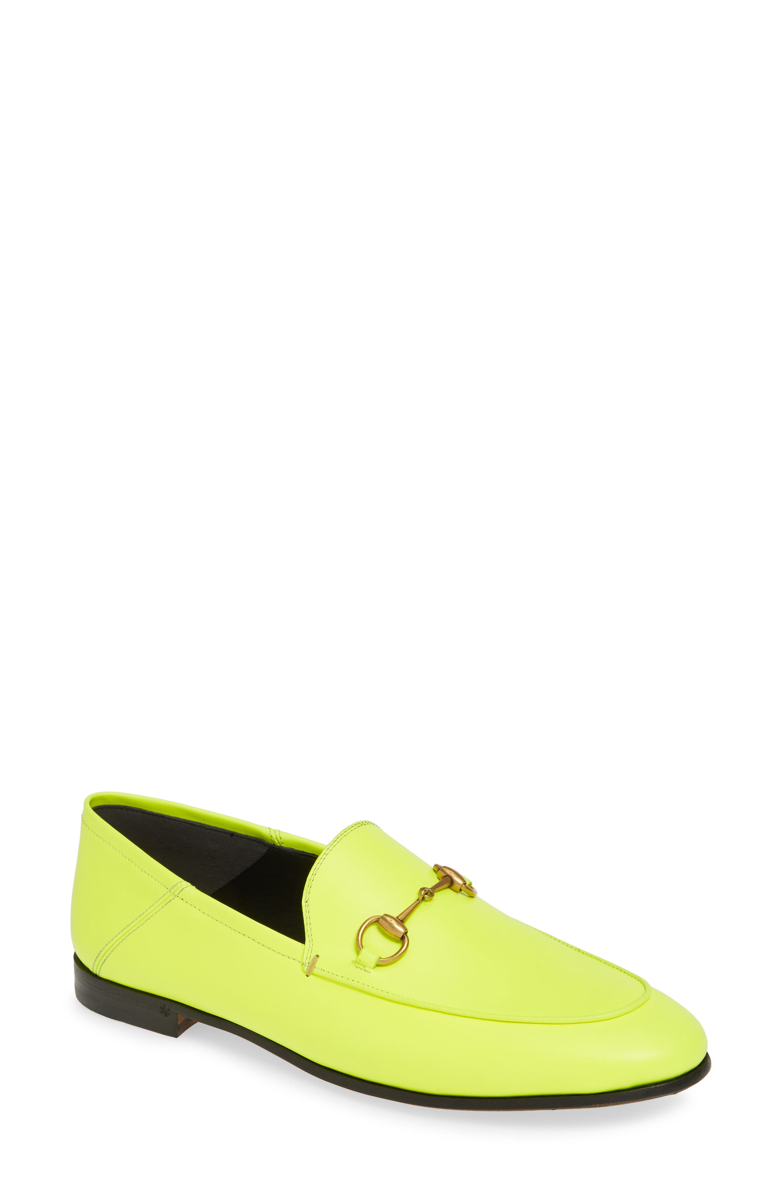 GUCCI, Brixton Convertible Loafer, Main thumbnail 1, color, YELLOW FLUO LEATHER