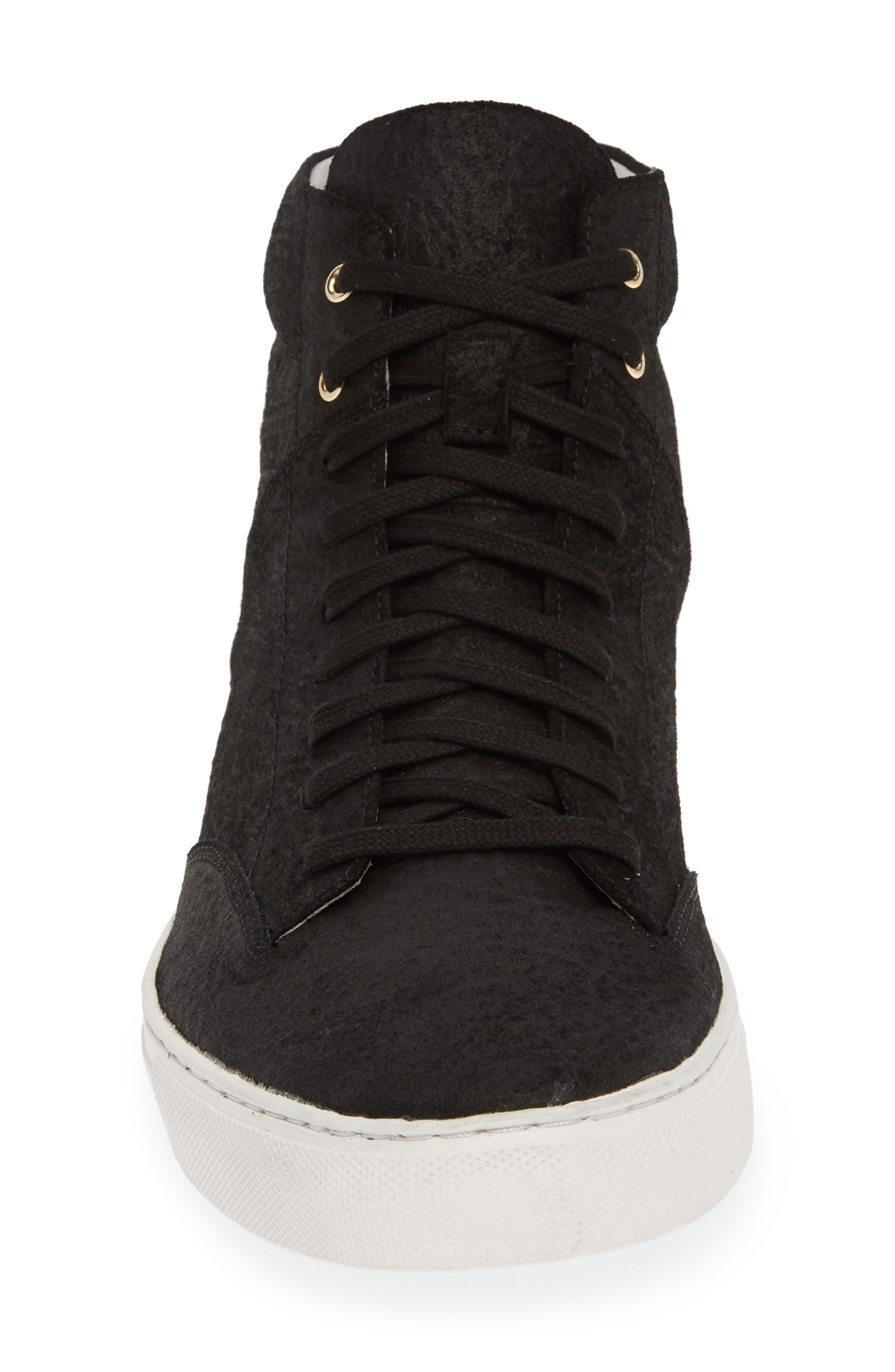 TCG, 'Porter' High Top Sneaker, Alternate thumbnail 4, color, BLACK LEATHER
