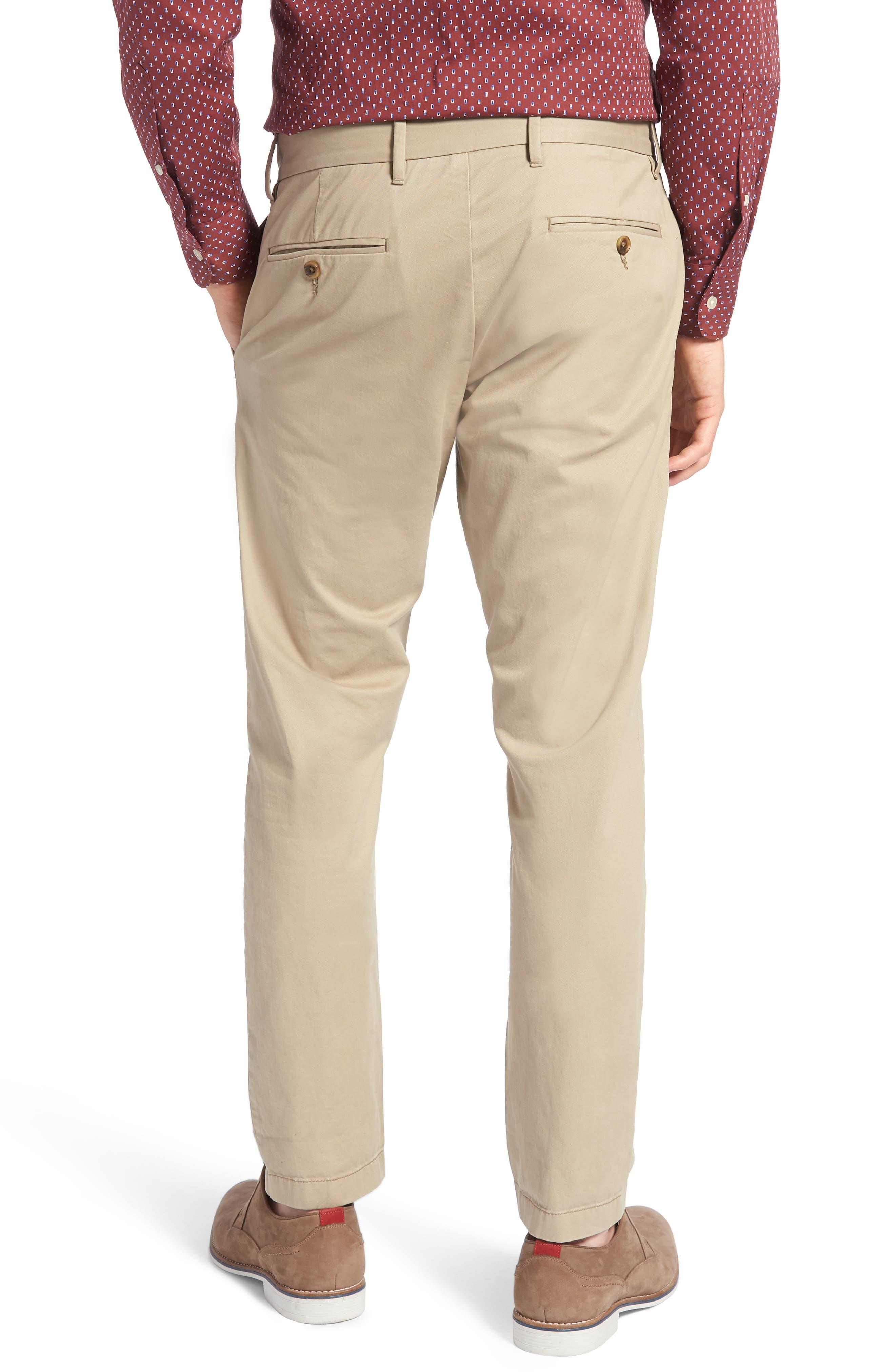 1901, Ballard Slim Fit Stretch Chino Pants, Alternate thumbnail 2, color, TAN BURROW
