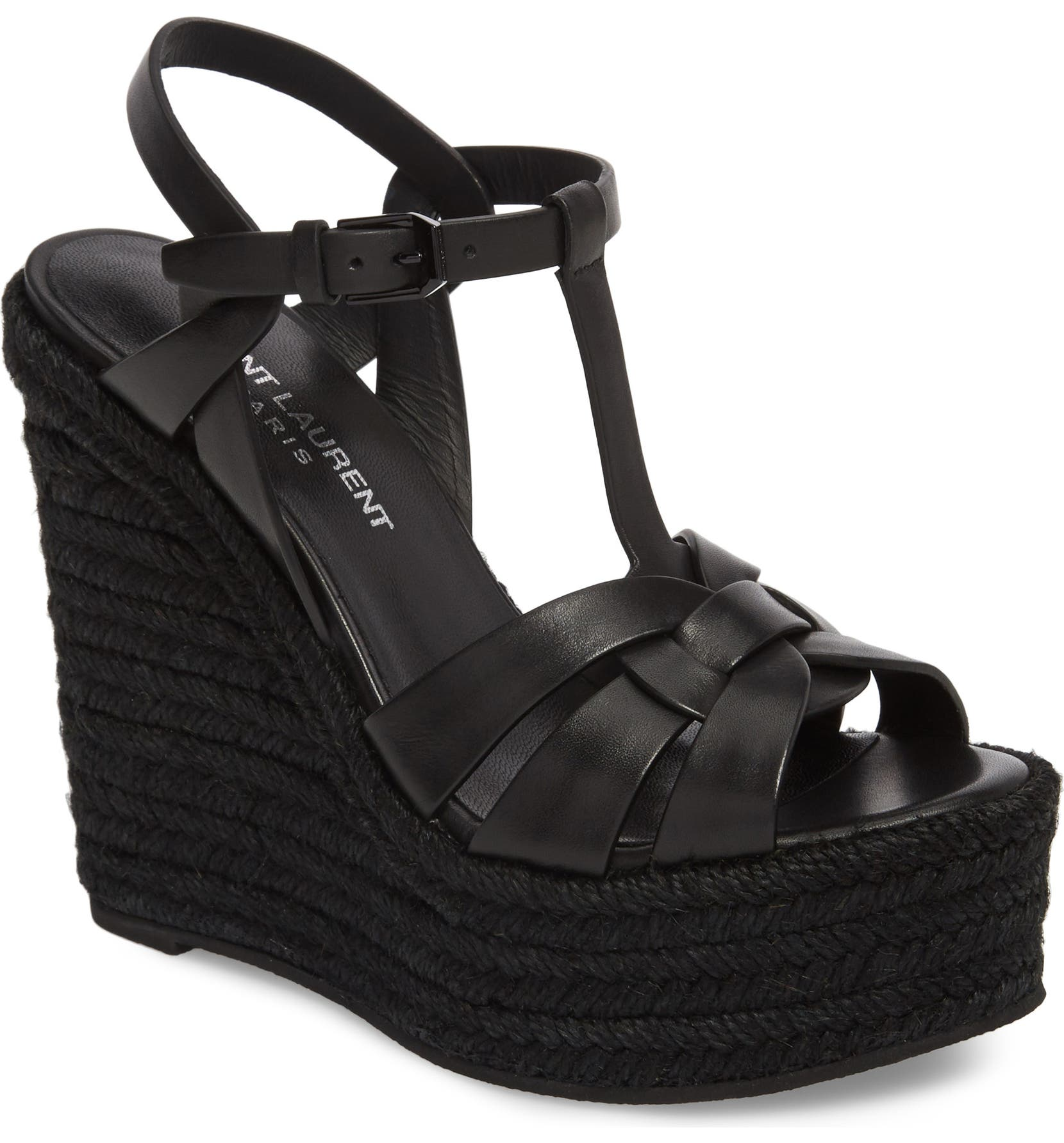 32f83eba2 Saint Laurent Tribute Espadrille Wedge (Women)