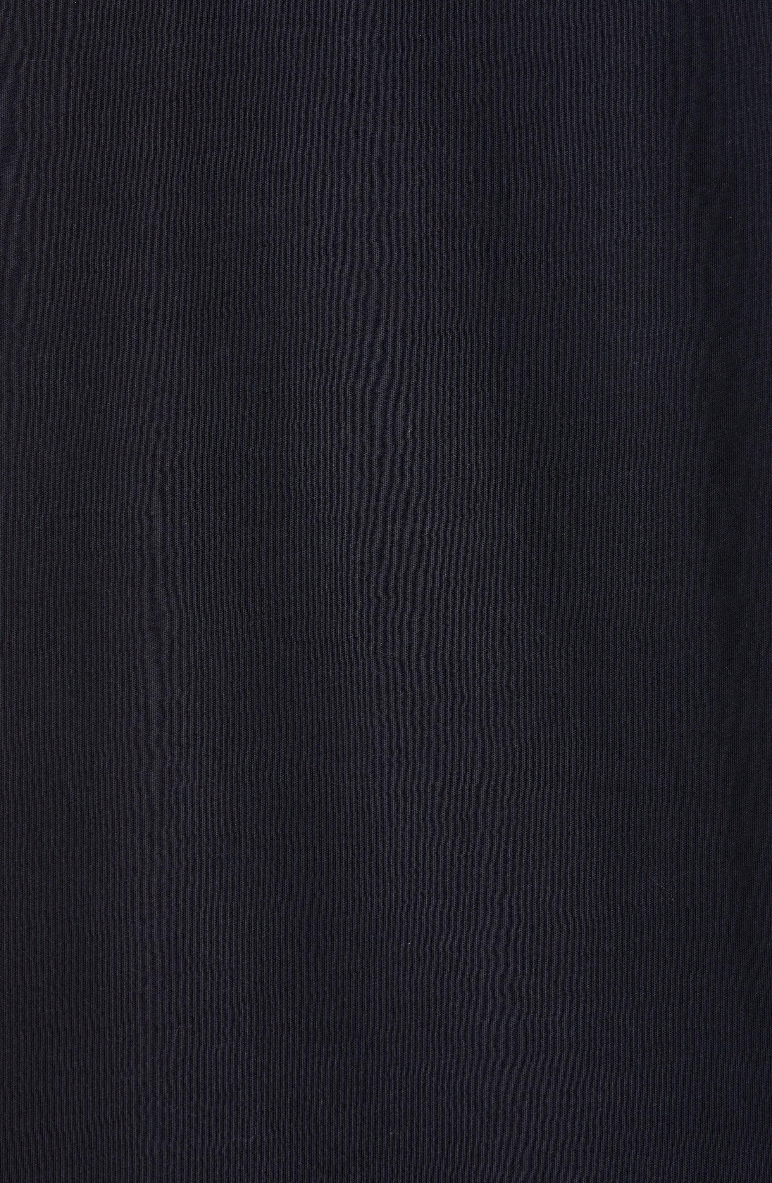 HELMUT LANG, Stacked Logo T-Shirt, Alternate thumbnail 5, color, BLACK BASALT