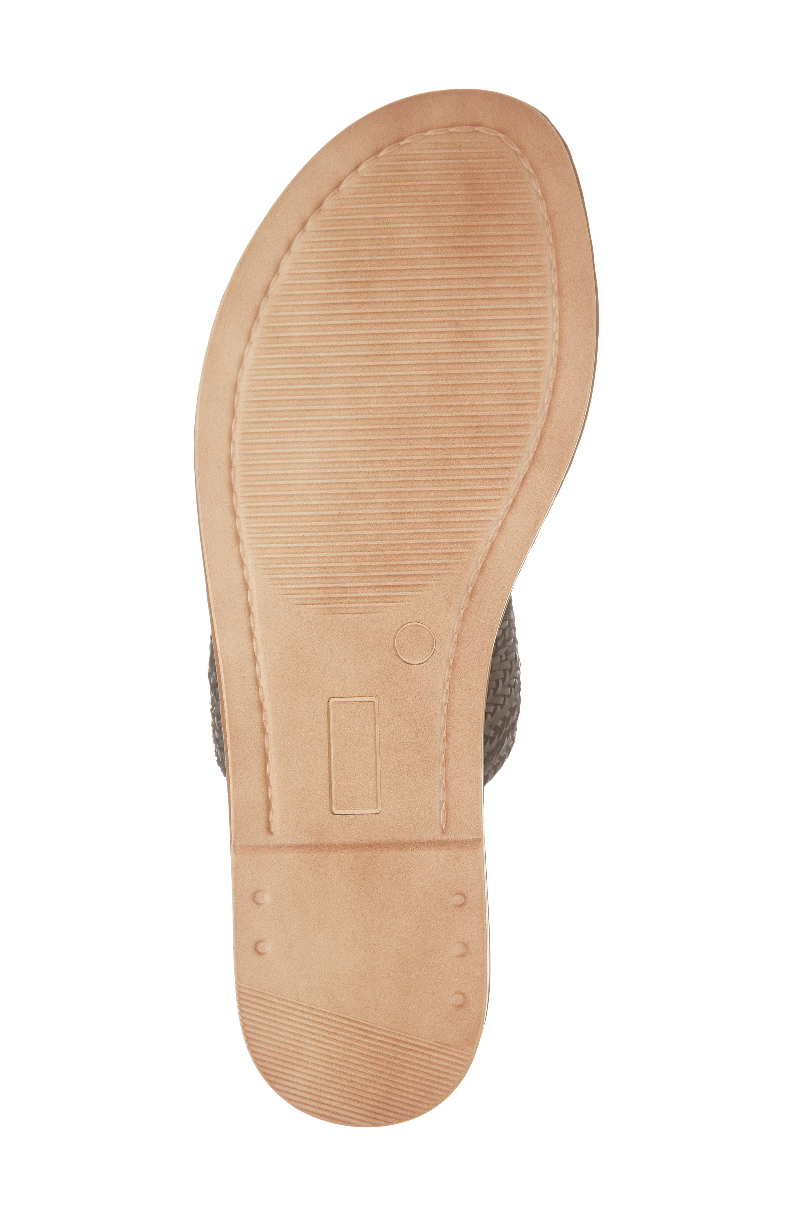 BELLA VITA, Two-Strap Slide Sandal, Alternate thumbnail 6, color, BLACK WOVEN