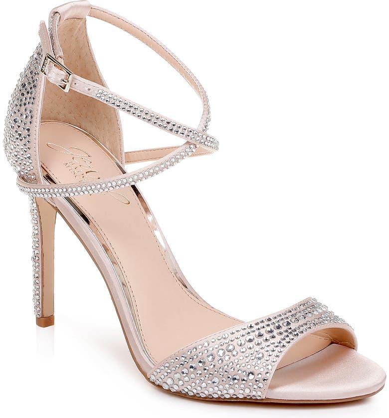 0e9b69bec Jewel Badgley Mischka Dillon Crystal Embellished Sandal (Women ...