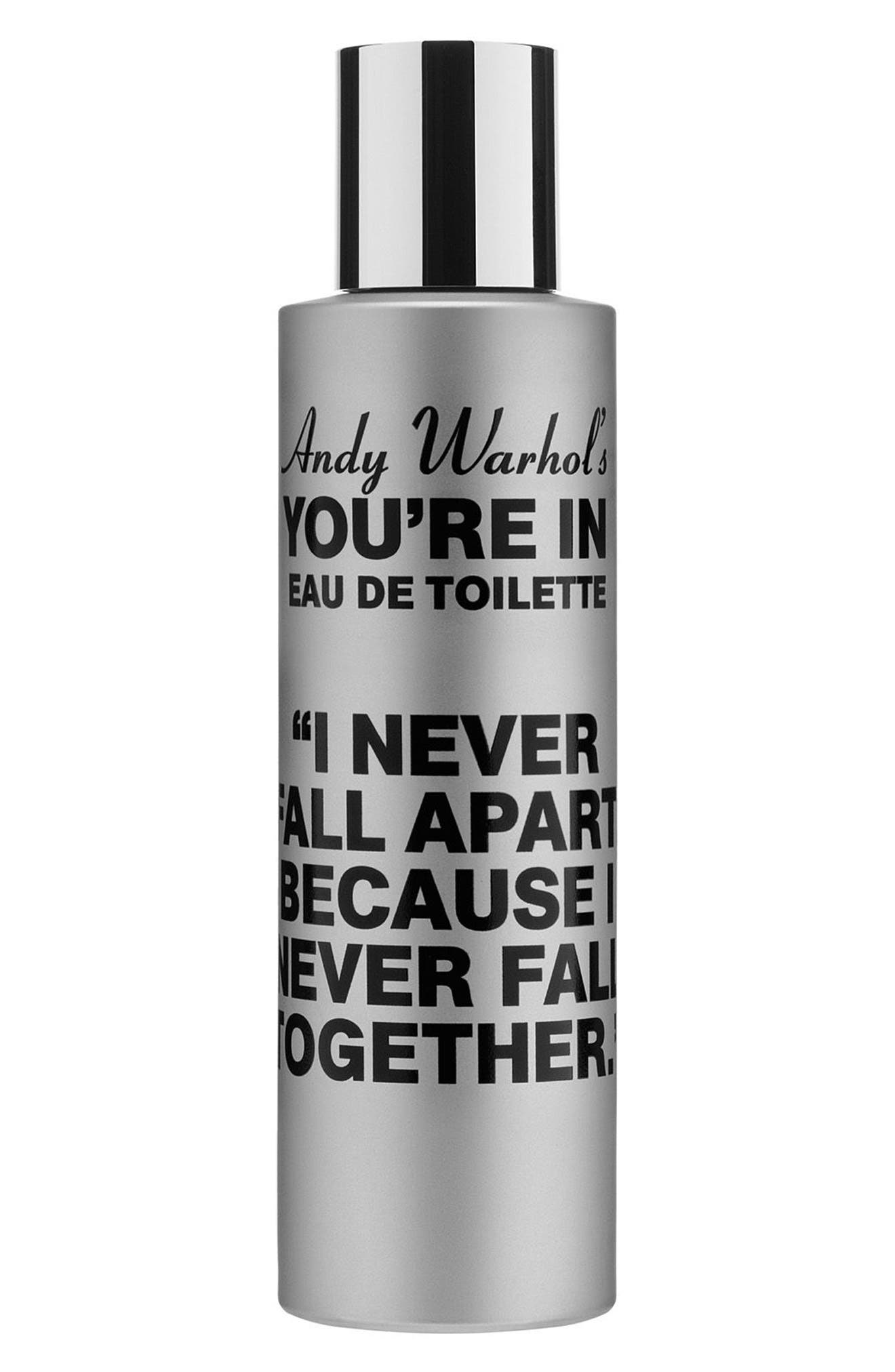 COMME DES GARÇONS, Andy Warhol You're In Unisex Eau de Toilette, Main thumbnail 1, color, I NEVER FALL