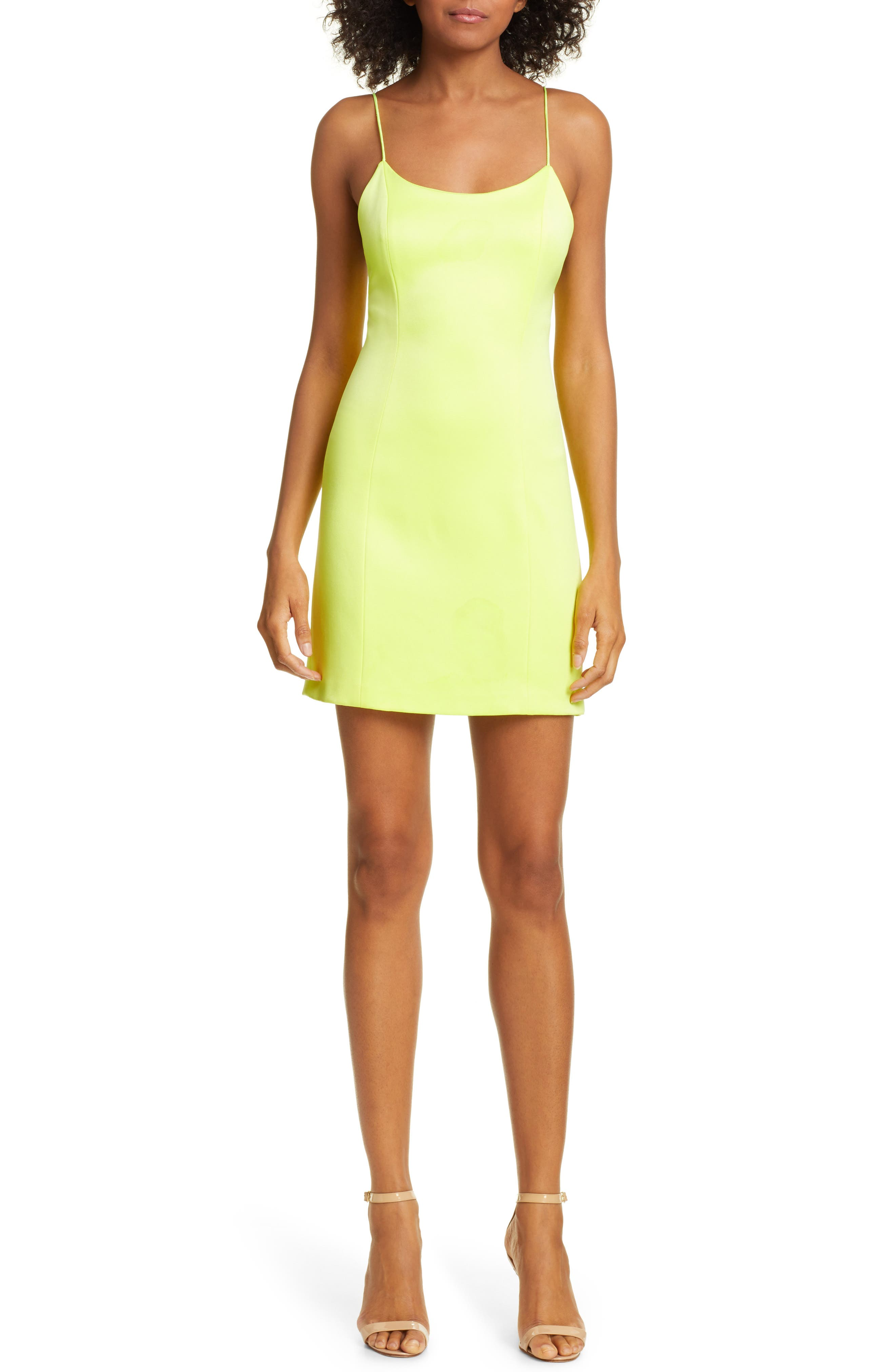 Alice + Olivia Nelle Fitted Minidress, Yellow