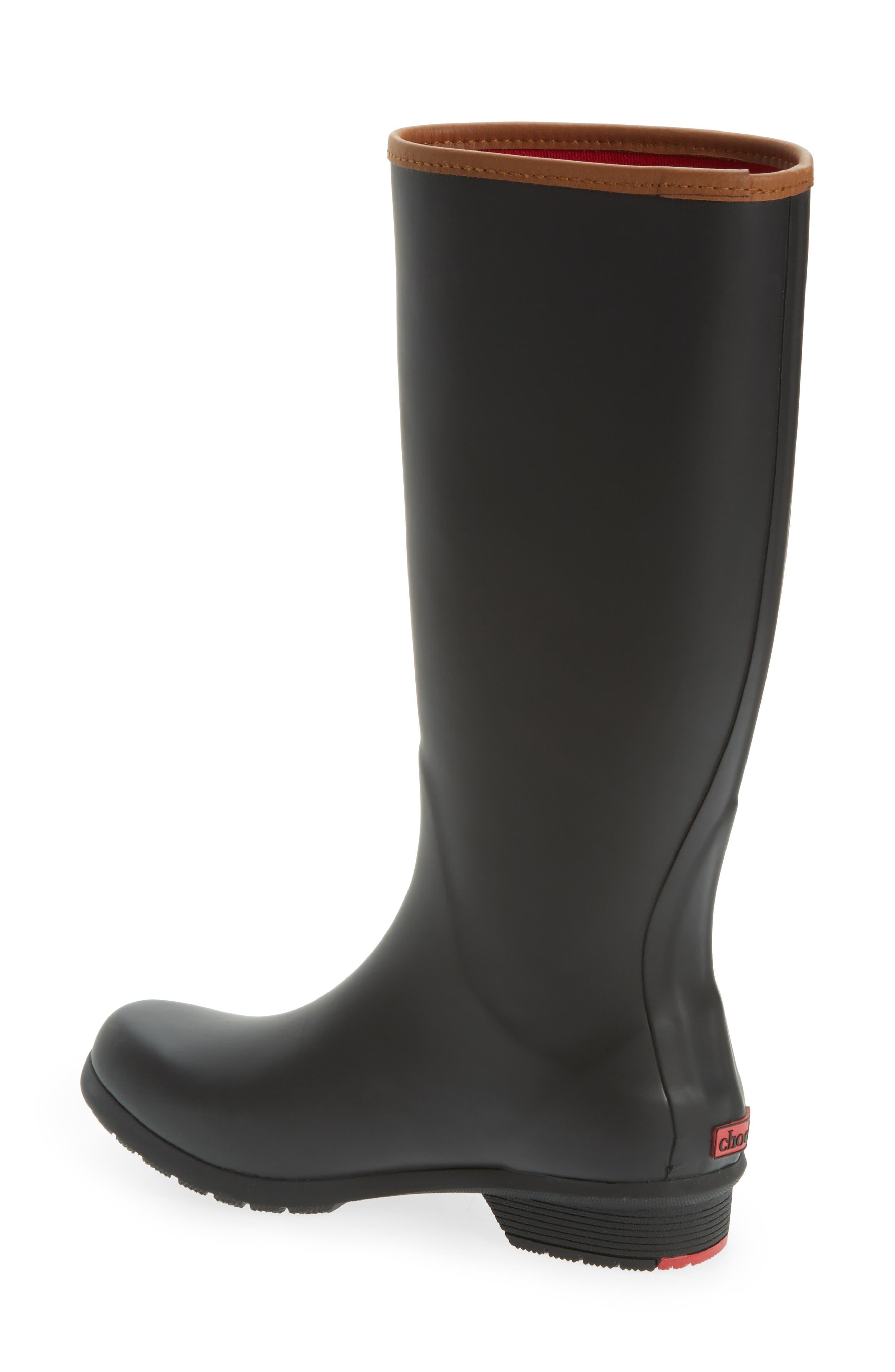 CHOOKA, City Tall Rain Boot, Alternate thumbnail 2, color, BLACK