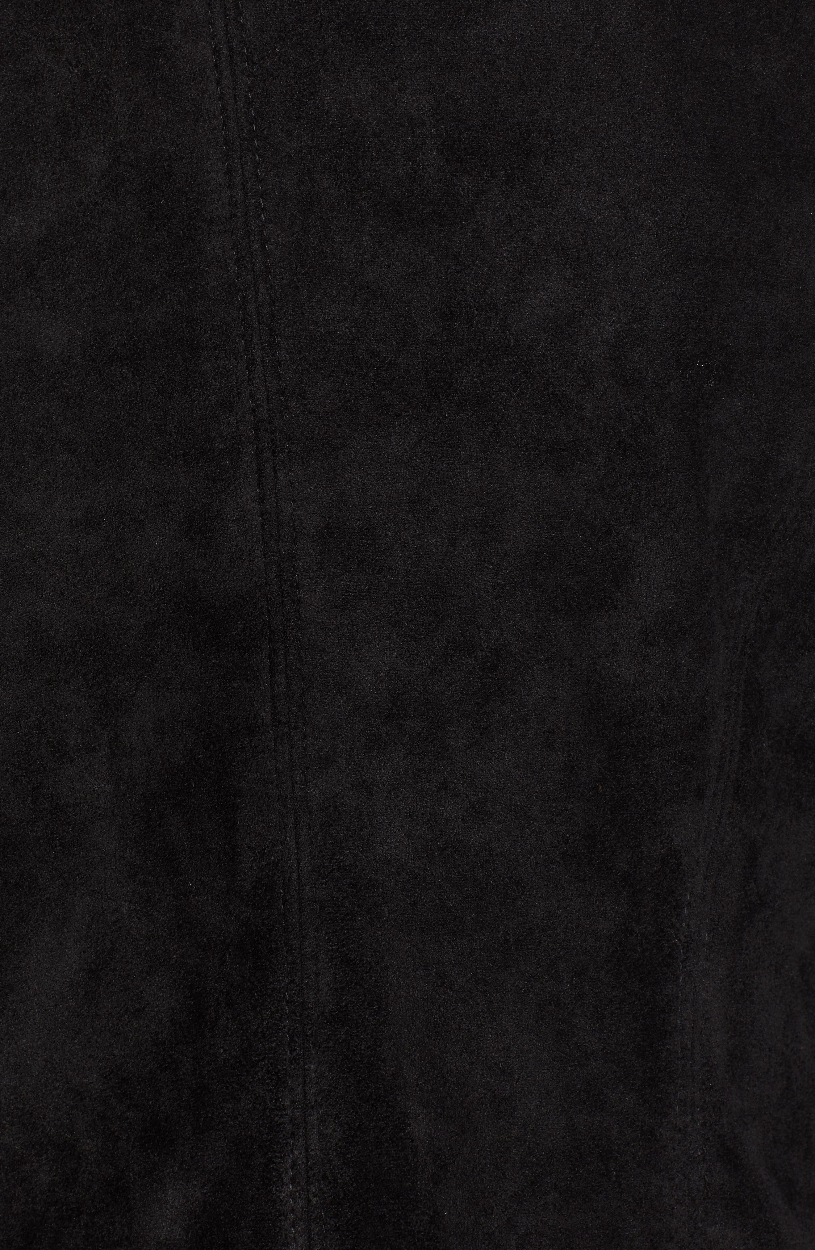 BLANKNYC, Legendary Faux Suede Jacket, Alternate thumbnail 7, color, 001