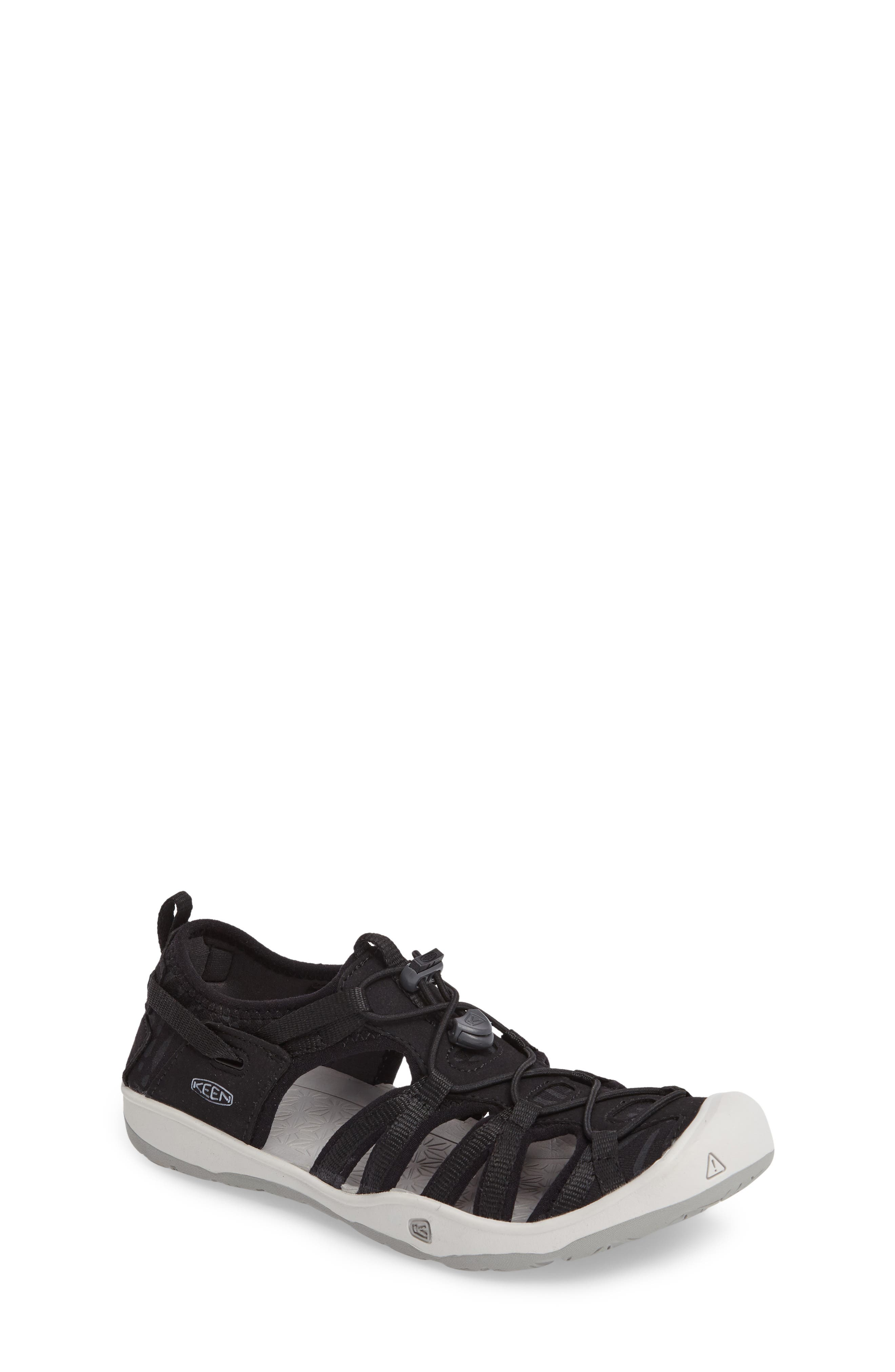 KEEN, Moxie Water Friendly Sandal, Main thumbnail 1, color, BLACK/ VAPOR