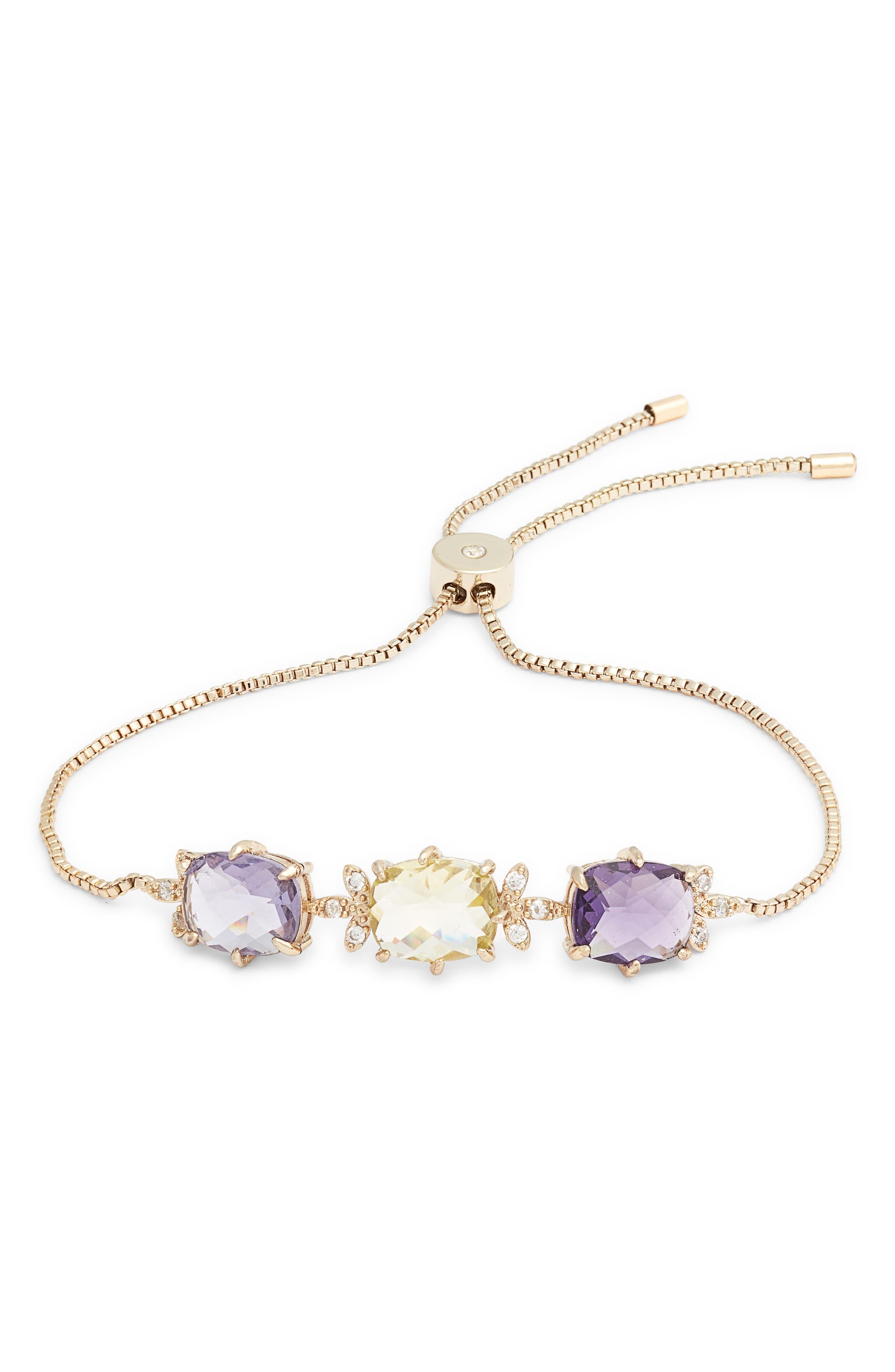 JENNY PACKHAM, Stone Slider Bracelet, Main thumbnail 1, color, 500