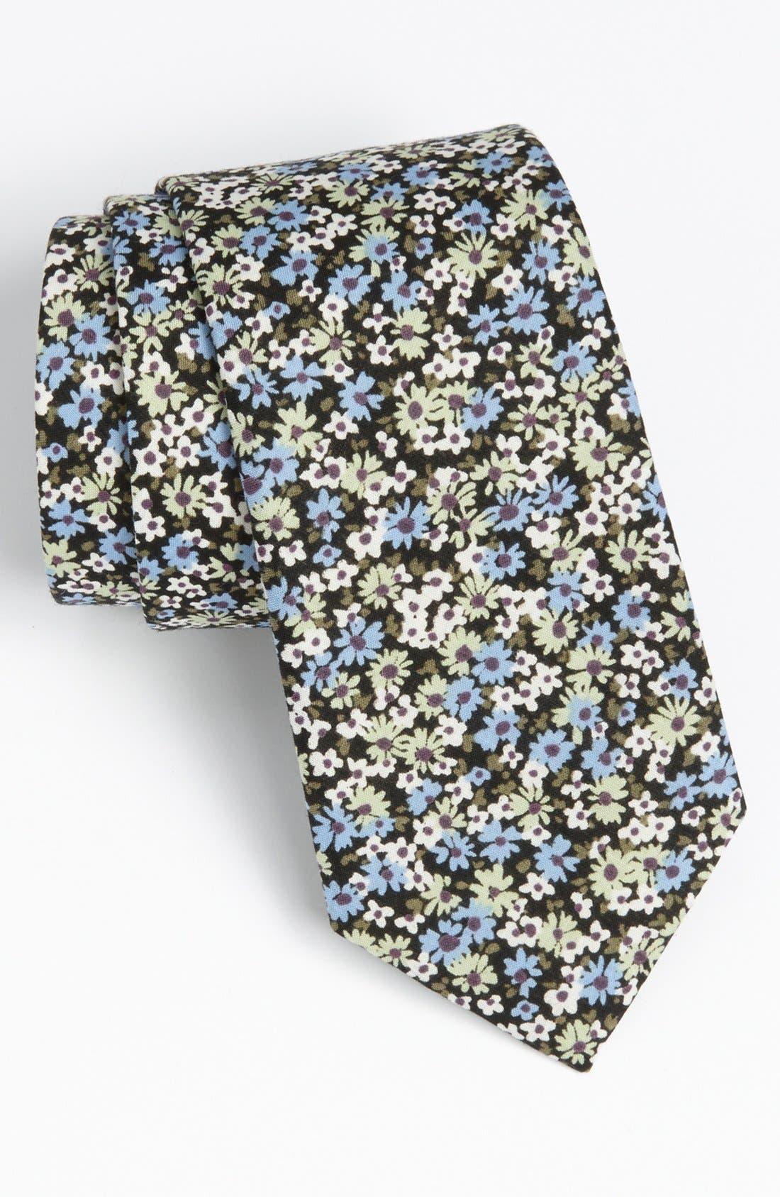 ROBERT STEWART, Woven Tie, Main thumbnail 1, color, 001