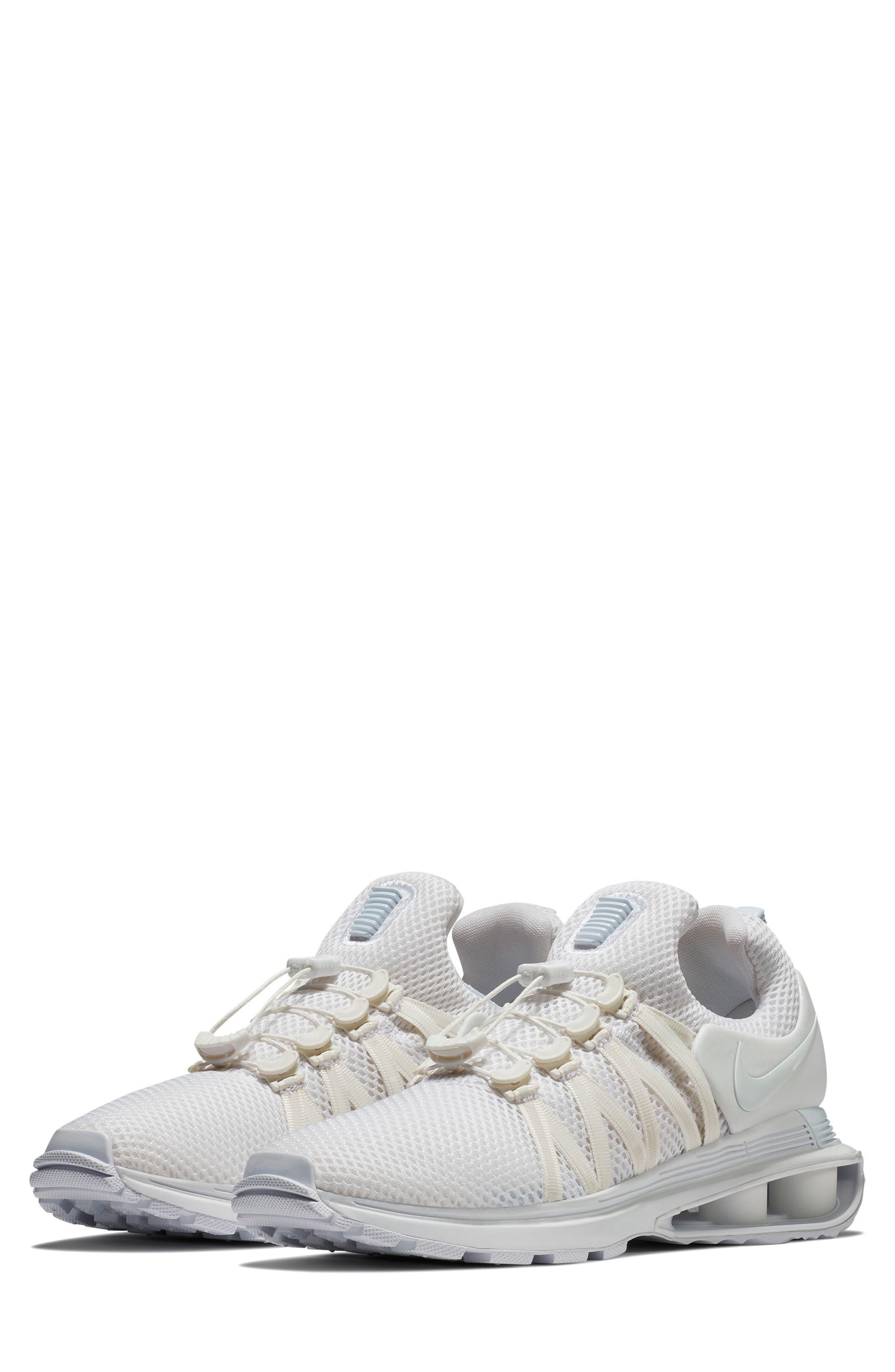NIKE, Shox Gravity Sneaker, Main thumbnail 1, color, 100