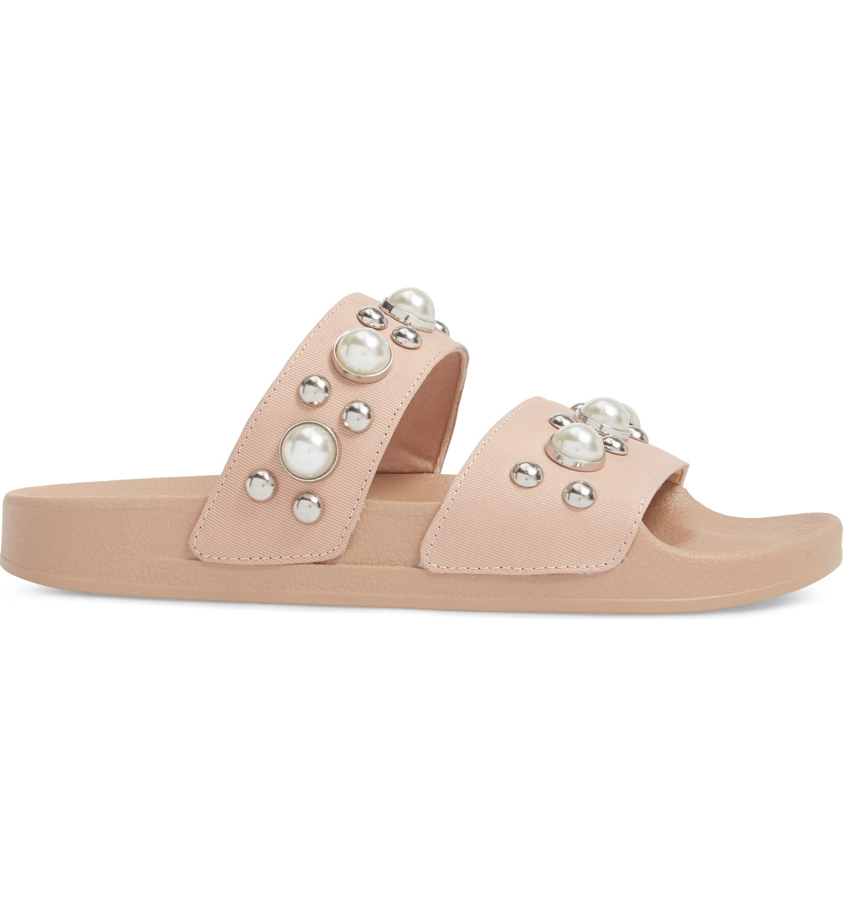 60a0d7e38774 Steve Madden Polite Embellished Slide Sandal (Women)