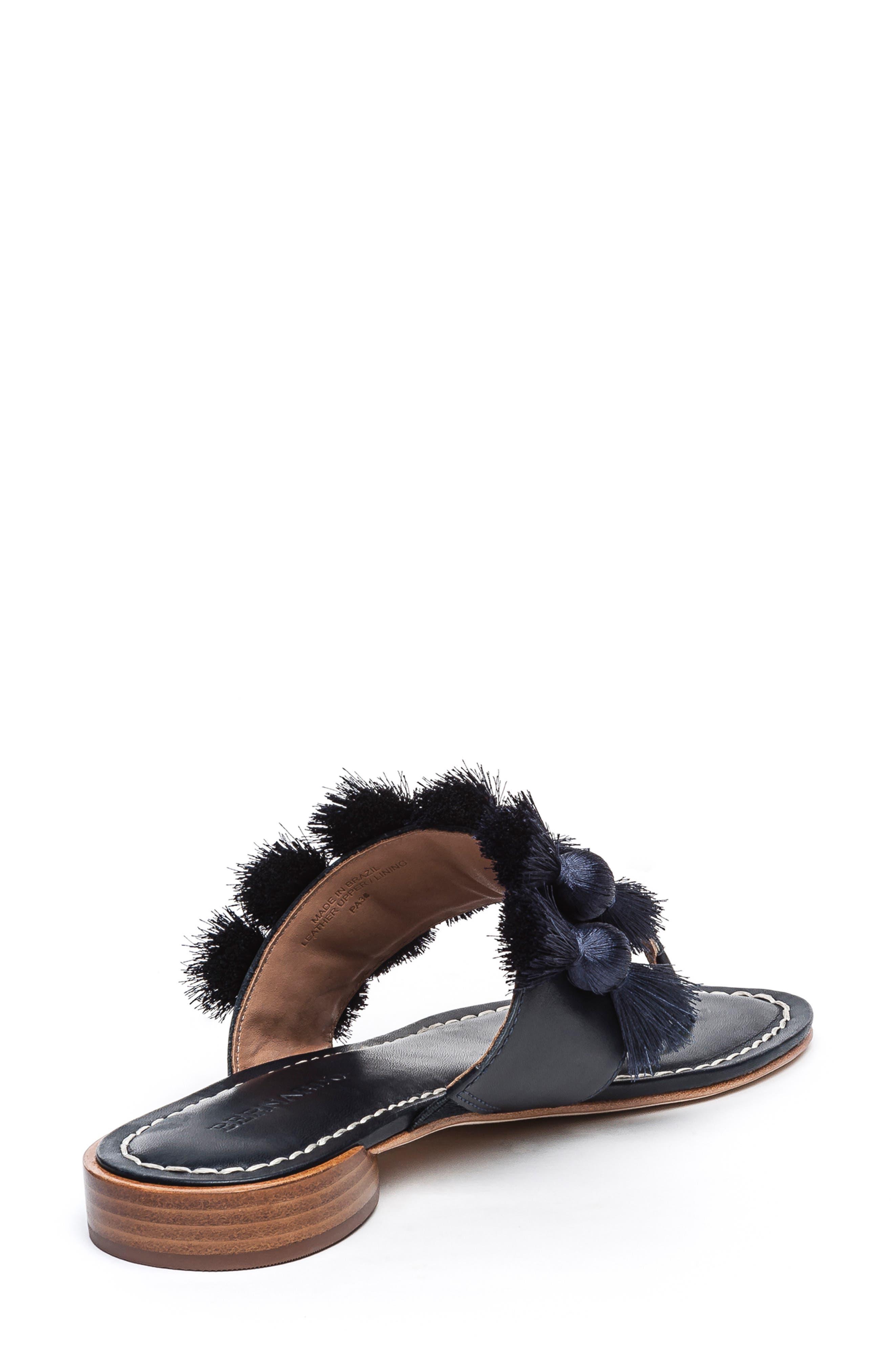 BERNARDO, Footwear Tara Flip Flop, Alternate thumbnail 2, color, NAVY ANTIQUE LEATHER
