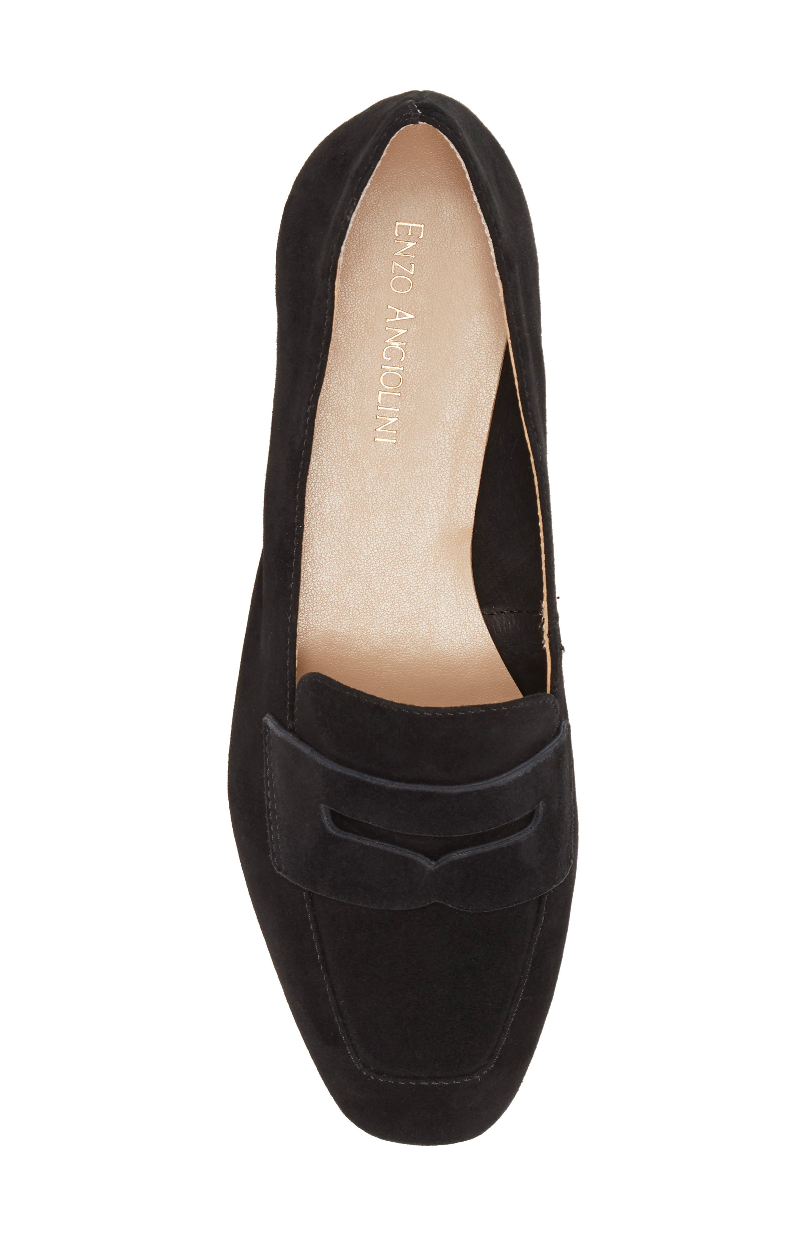 ENZO ANGIOLINI, Leeba Loafer, Alternate thumbnail 5, color, BLACK SUEDE