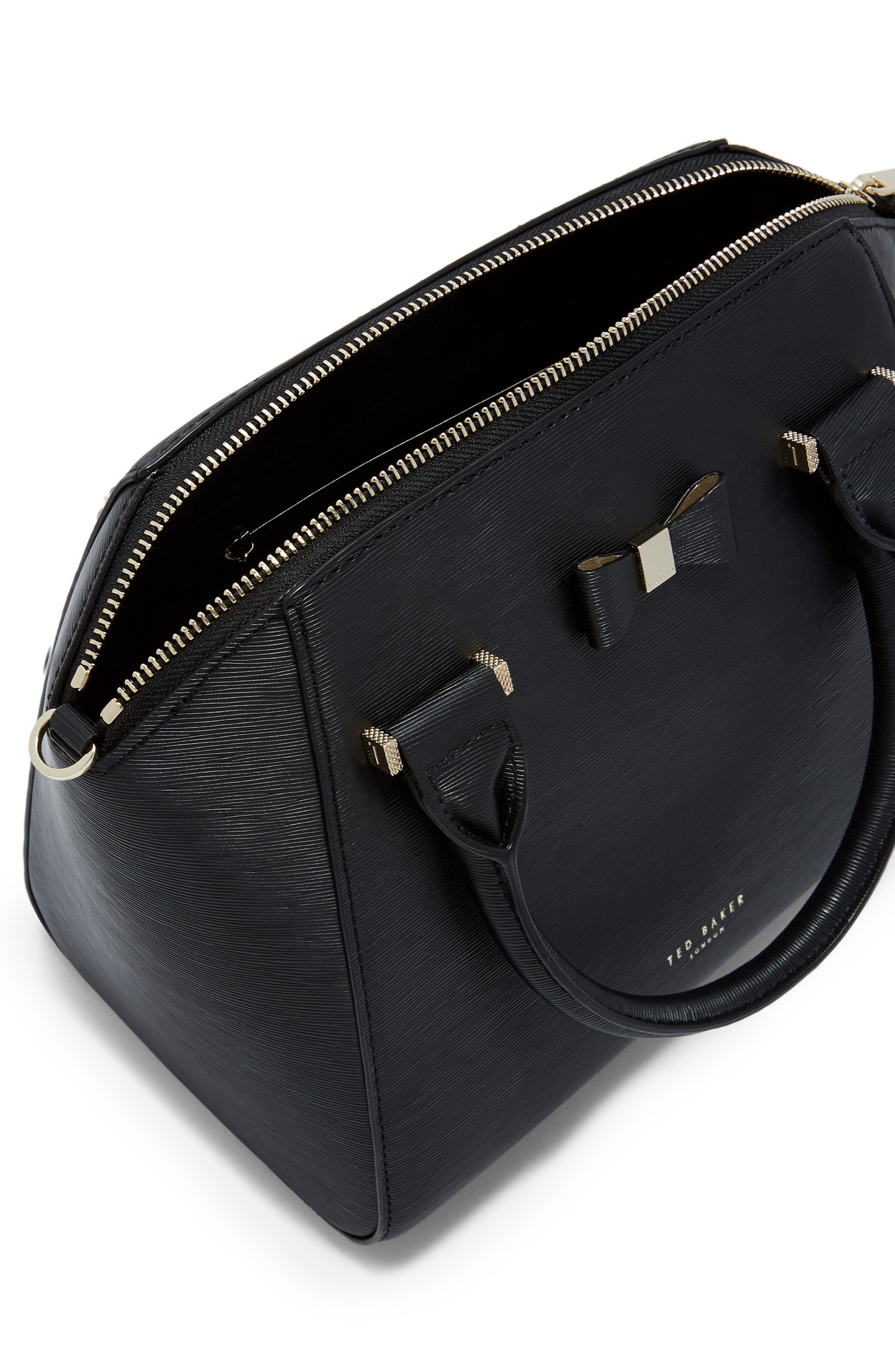TED BAKER LONDON, Bow Tote, Alternate thumbnail 4, color, 001