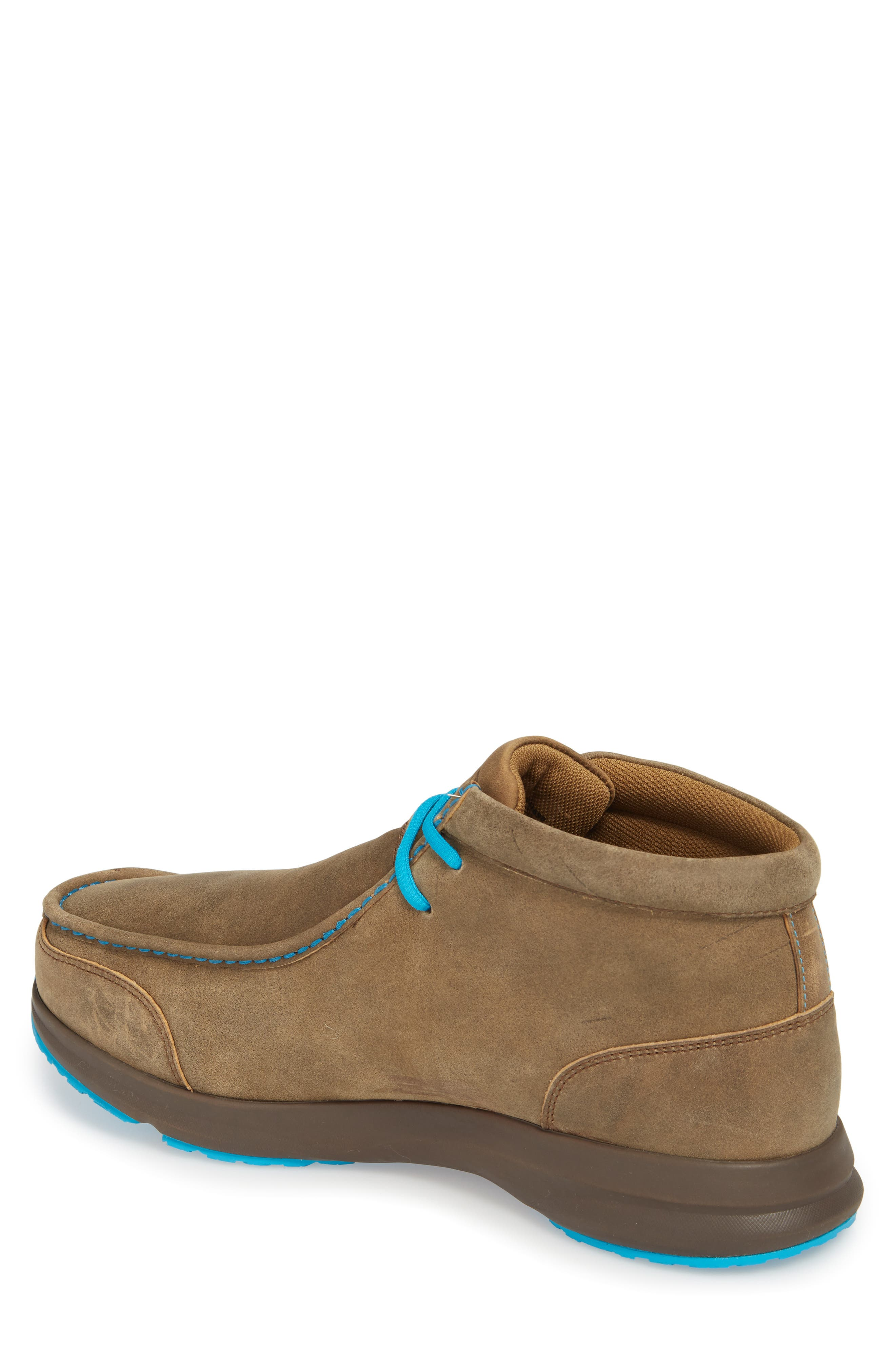 ARIAT, Spitfire Chukka Boot, Alternate thumbnail 2, color, BROWN BOMBER/ BLUE LEATHER