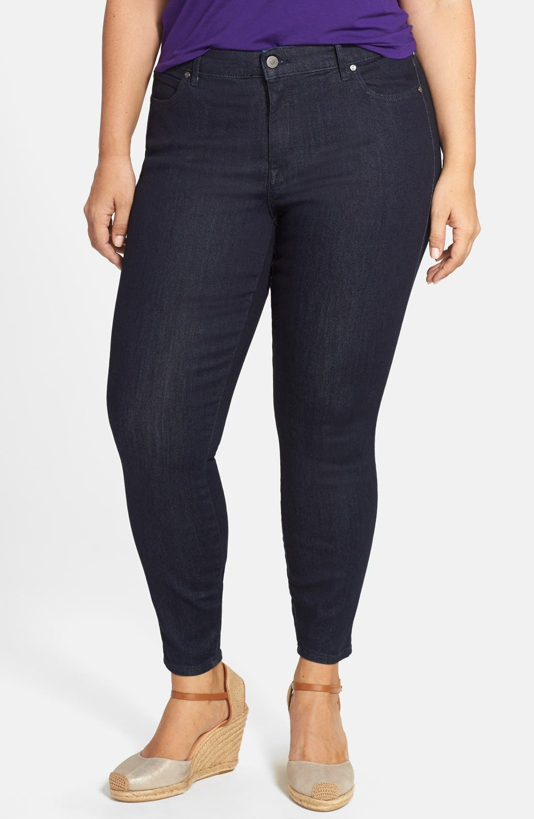 CJ BY COOKIE JOHNSON, 'Wisdom' Stretch Ankle Skinny Jeans, Main thumbnail 1, color, 400